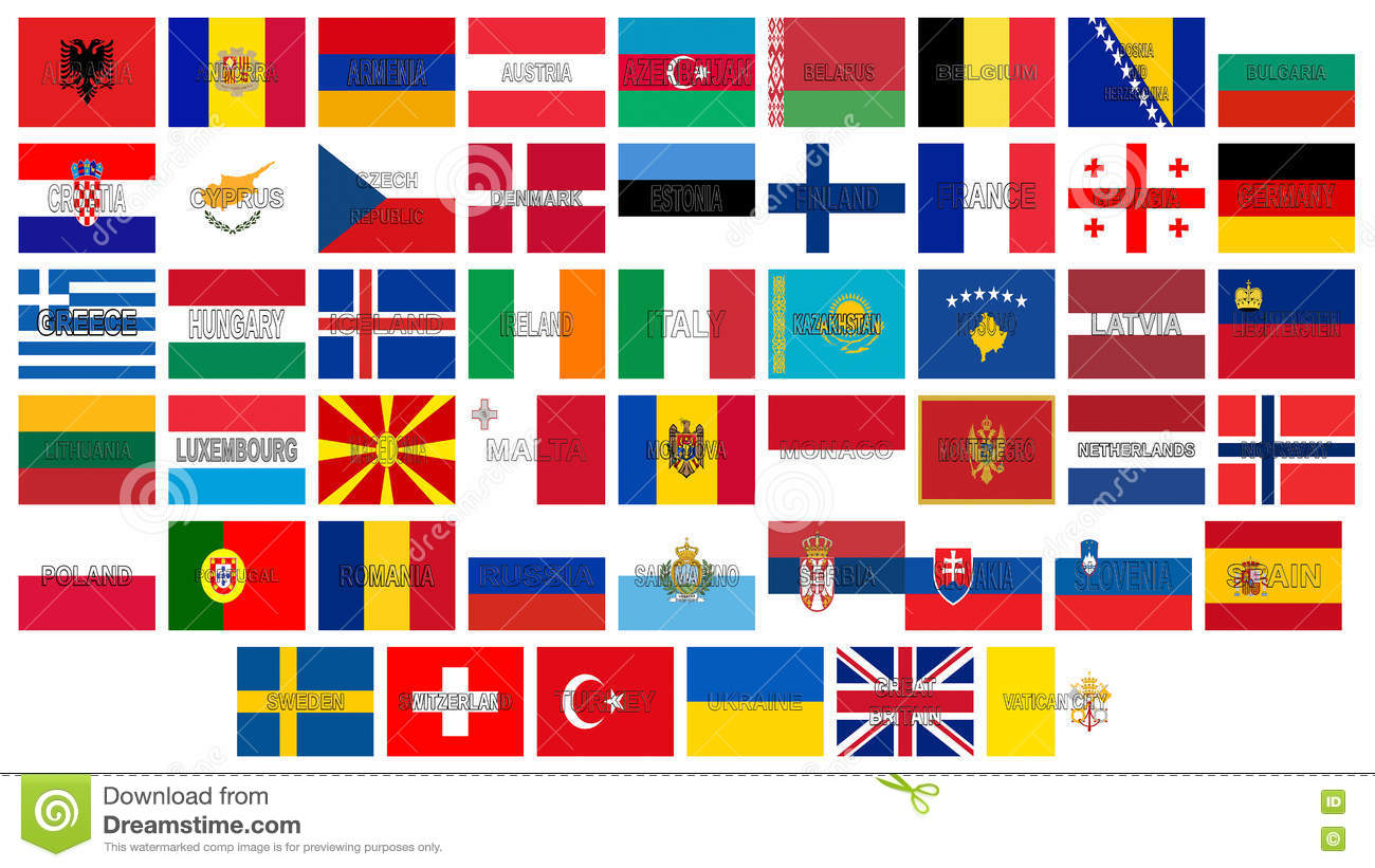 European Countries Flags With Names