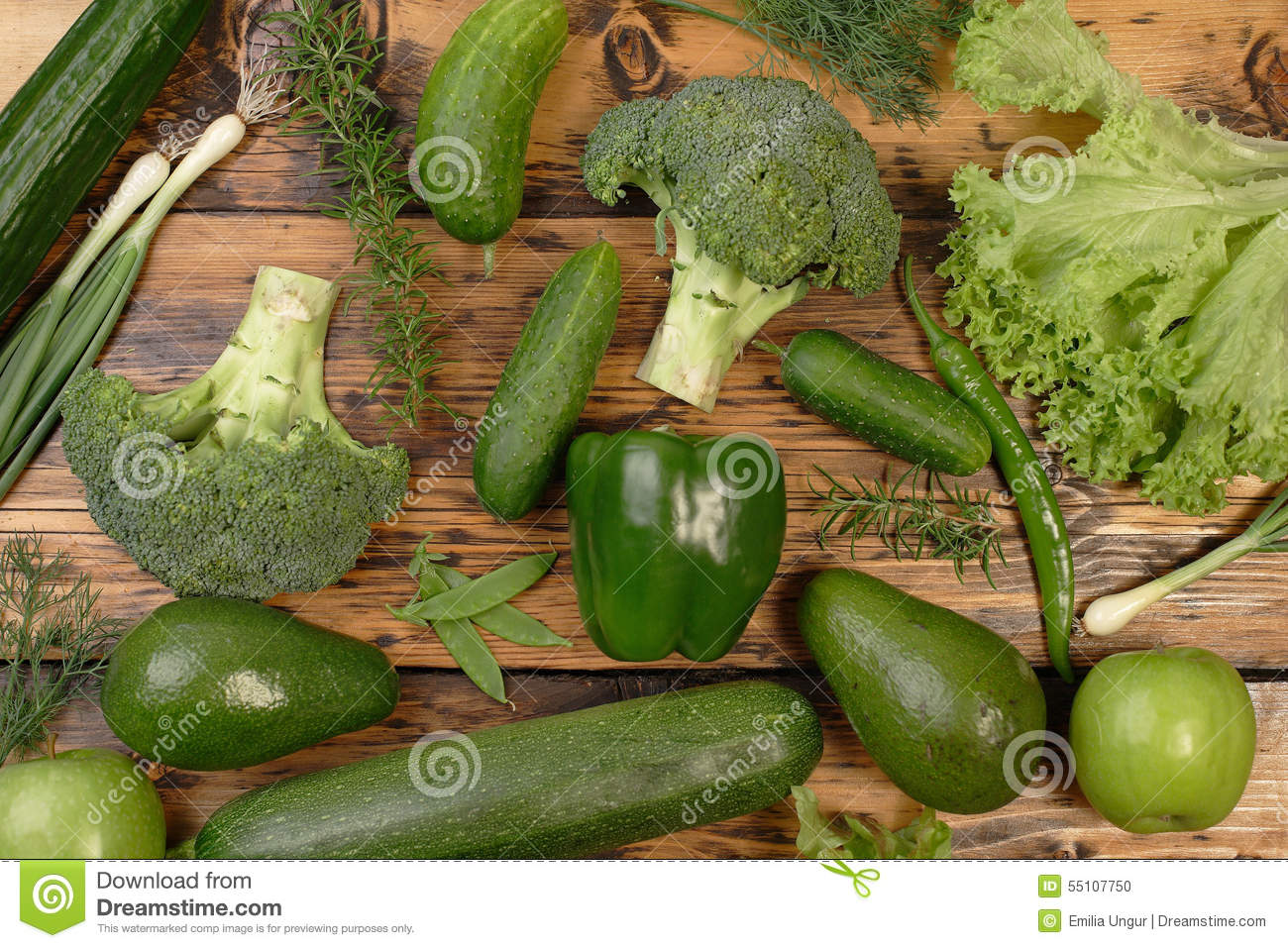 All green food stock photo image 55107750 for Cuisine on the green