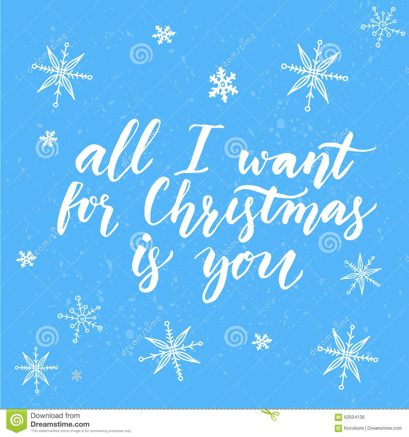 All i want for christmas is you inspirational stock