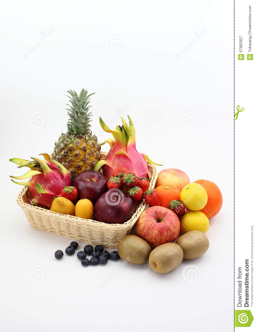 All Kinds Of Stickers: All Kinds Of Fruit Stock Photo