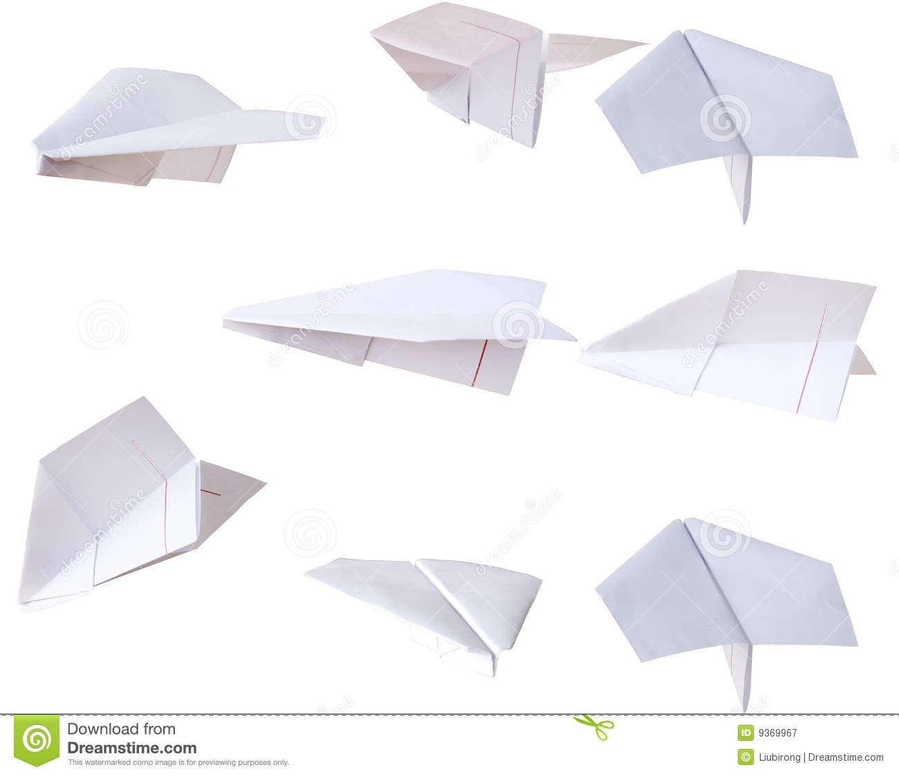 All Kinds Of Paper Airplane Stock Image Image Of White