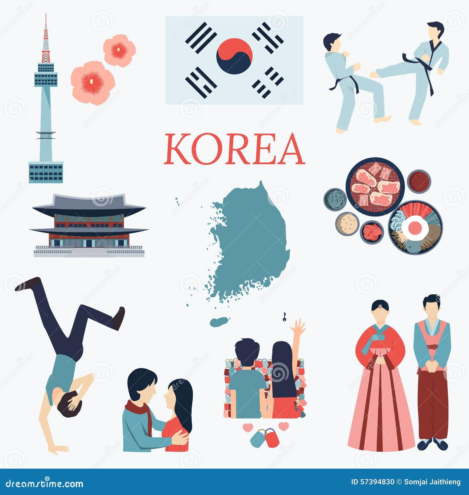 all about korea flat design elements kpop  korean series korean flag vector free Korean Flag Logo