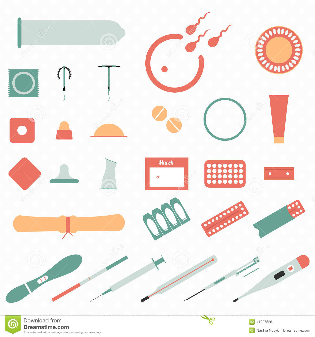 All Modern Types And Contraception Methods. Icons. Stock Vector ...: www.dreamstime.com/stock-illustration-all-modern-types...