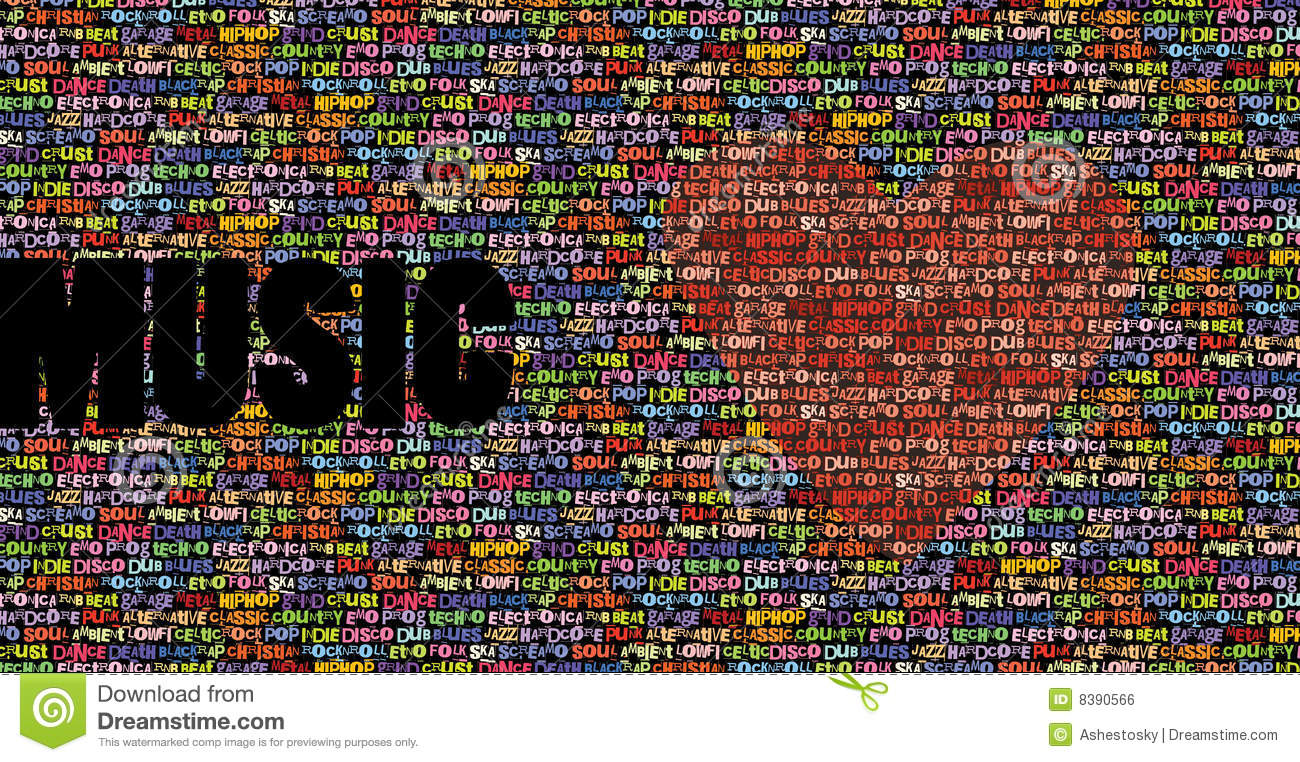 All Music Love Background Royalty Free Stock Image