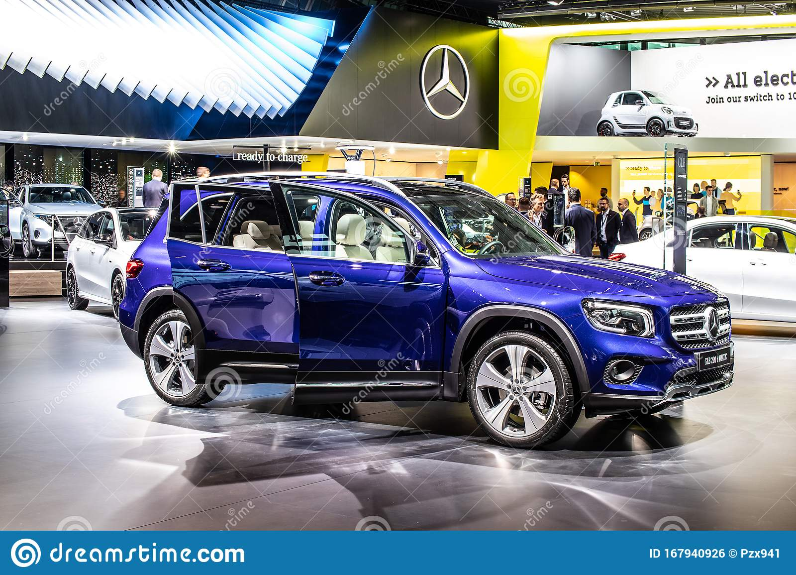 All New Mercedes Benz GLB 220d 4Matic At IAA, First ...