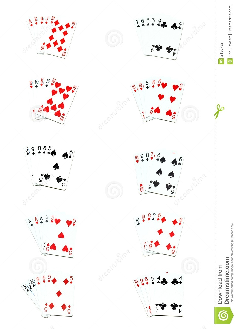 poker texas holdem hands order