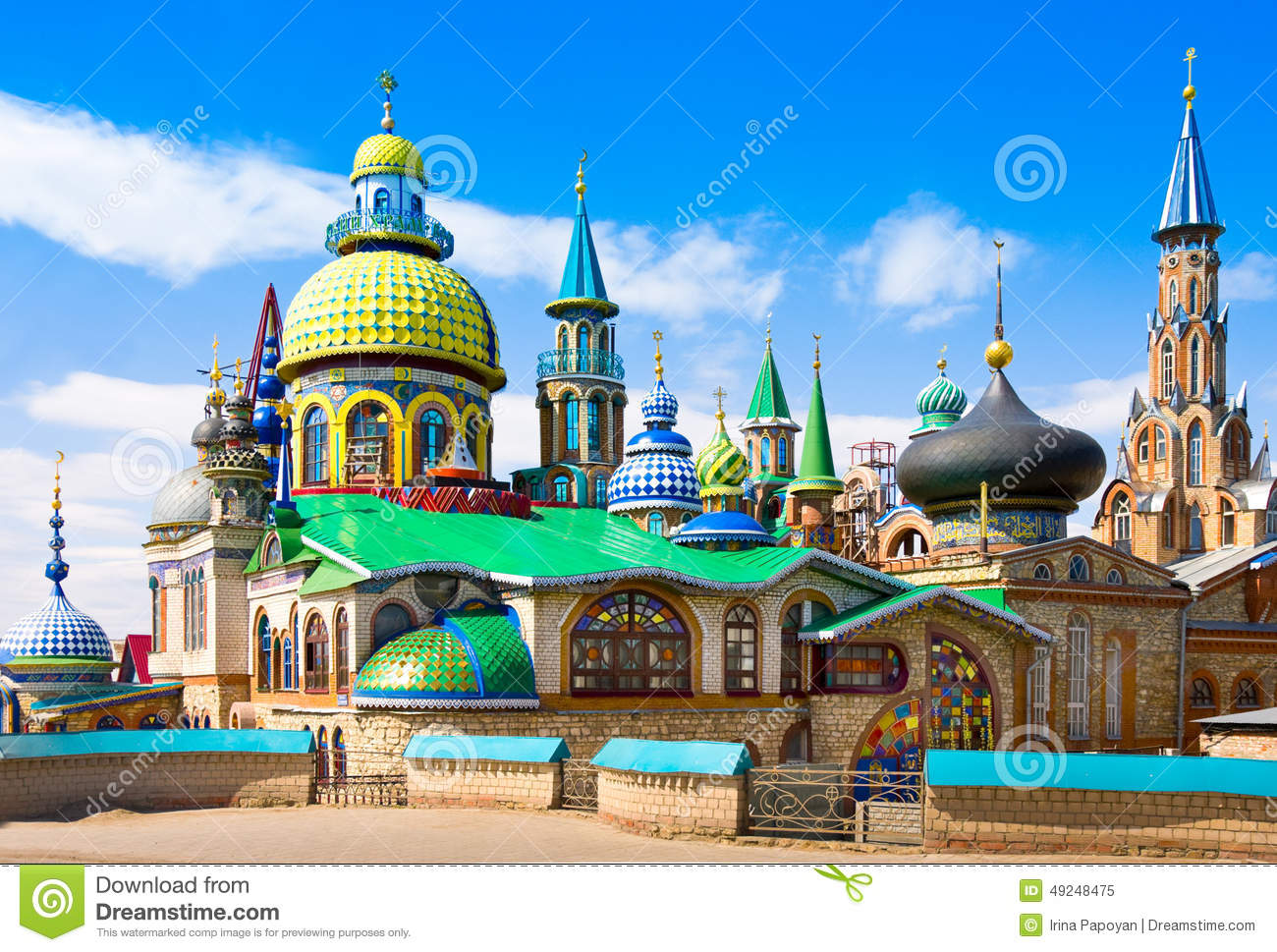 Download All Religions Temple In Kazan, Russia Stock Image - Image of praying, history: 49248475