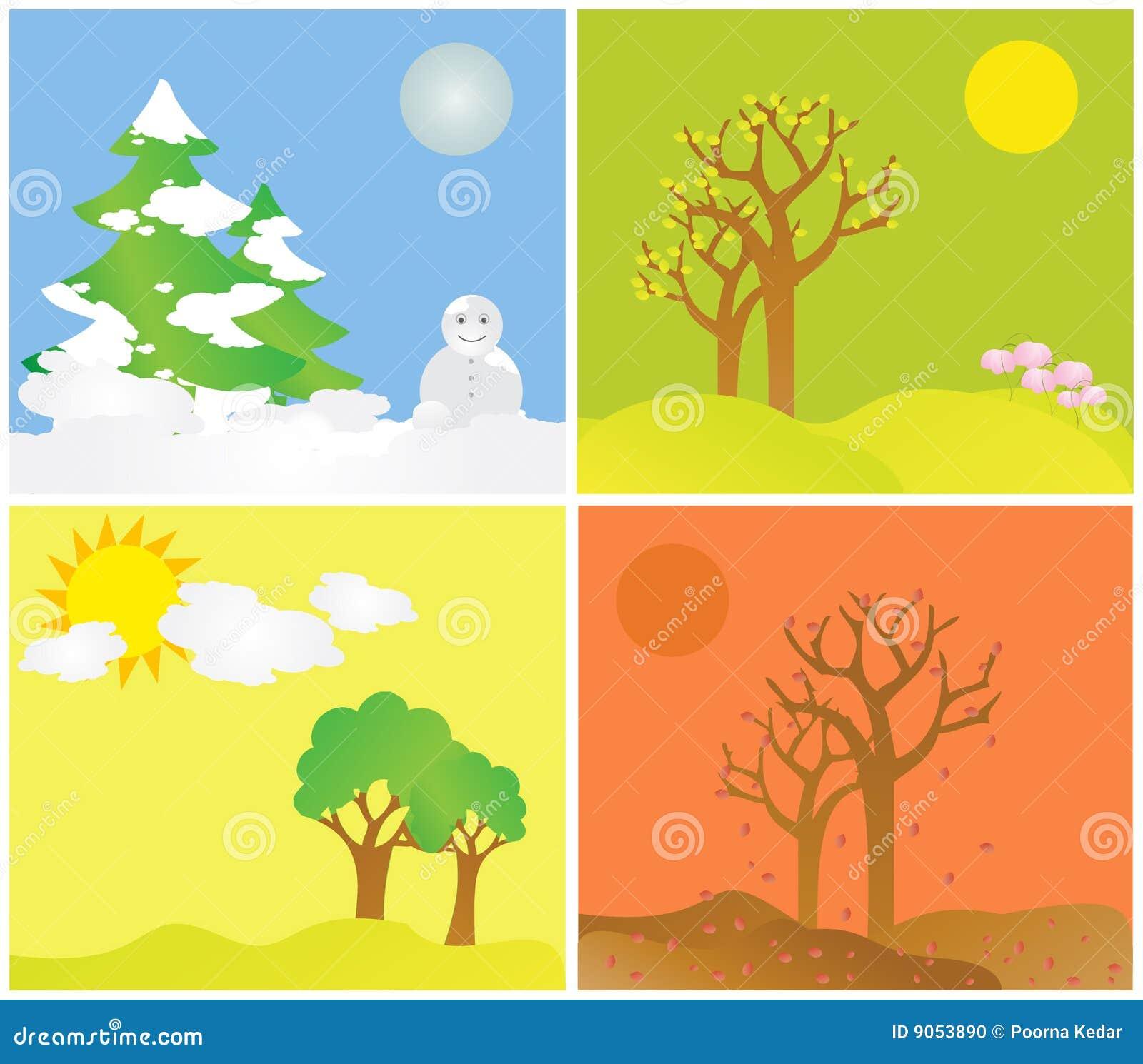 All seasons stock photo image 9053890