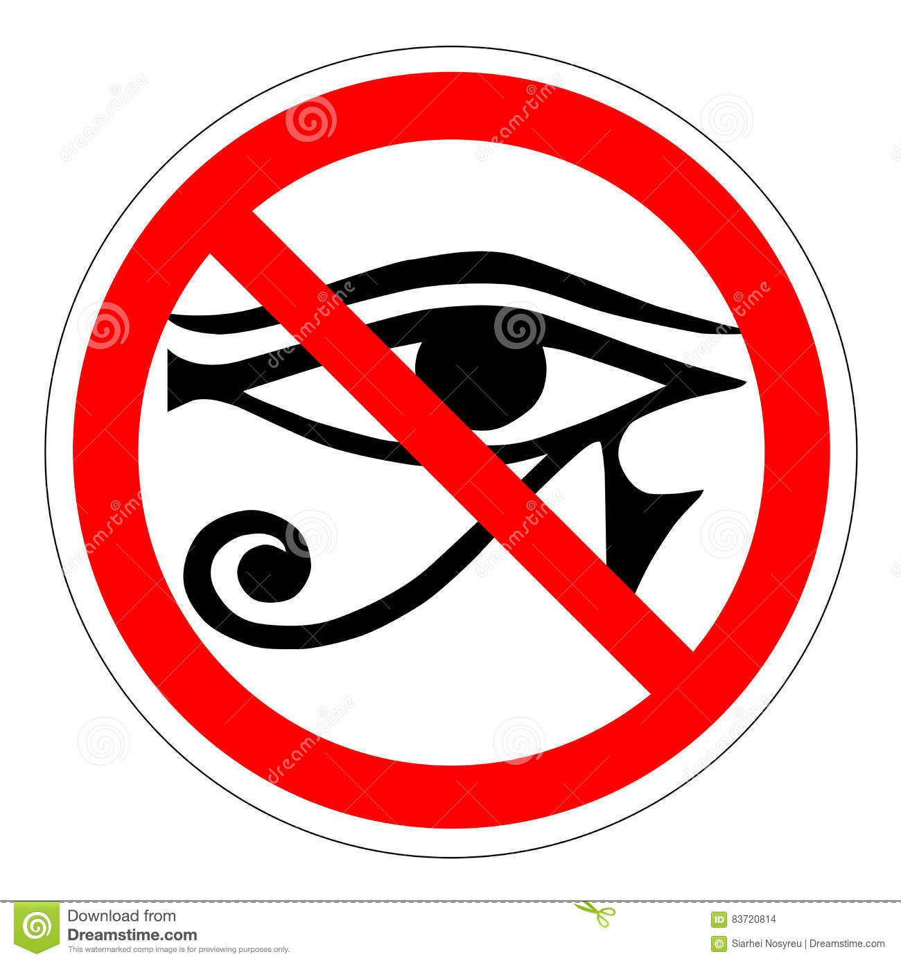The All Seeing Eye Of The Ban The New World Order Forbidden Sign
