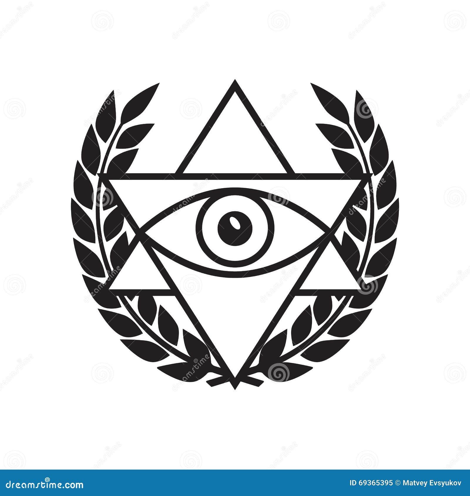 All Seeing Eye In Delta Triangle Stock Illustration Illustration