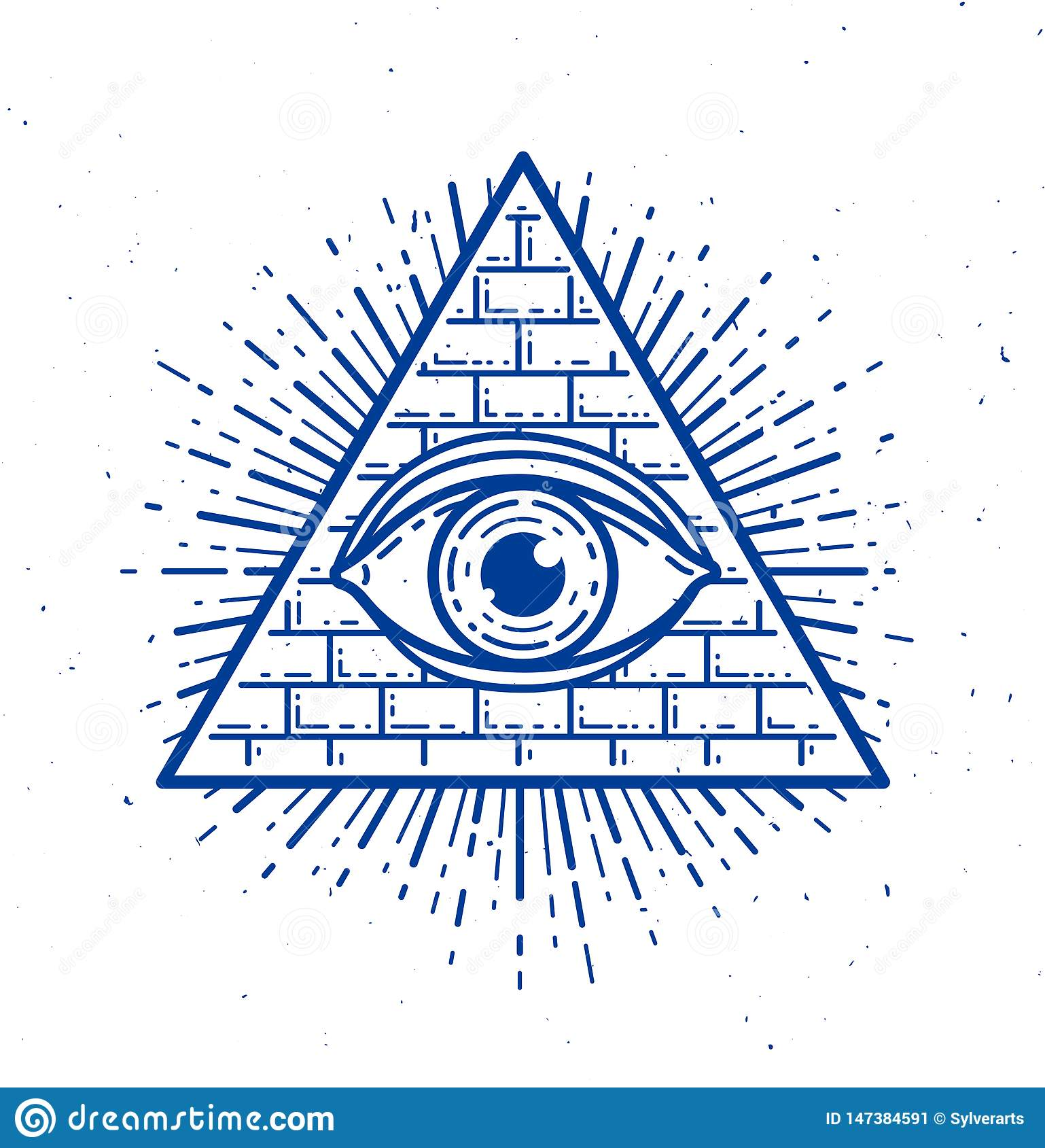 All Seeing Eye Of God In Sacred Geometry Triangle, Masonry