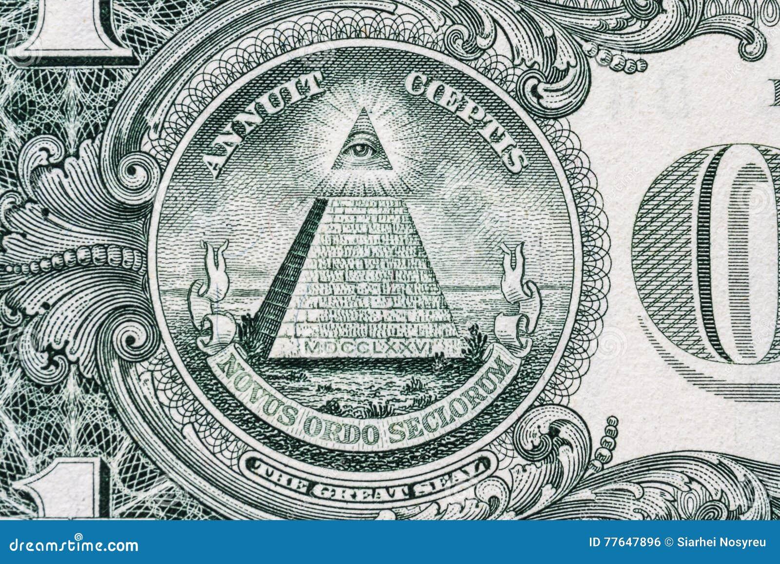 All Seeing Eye Masonic Sign Mason Symbol 1 One Dollar Stock