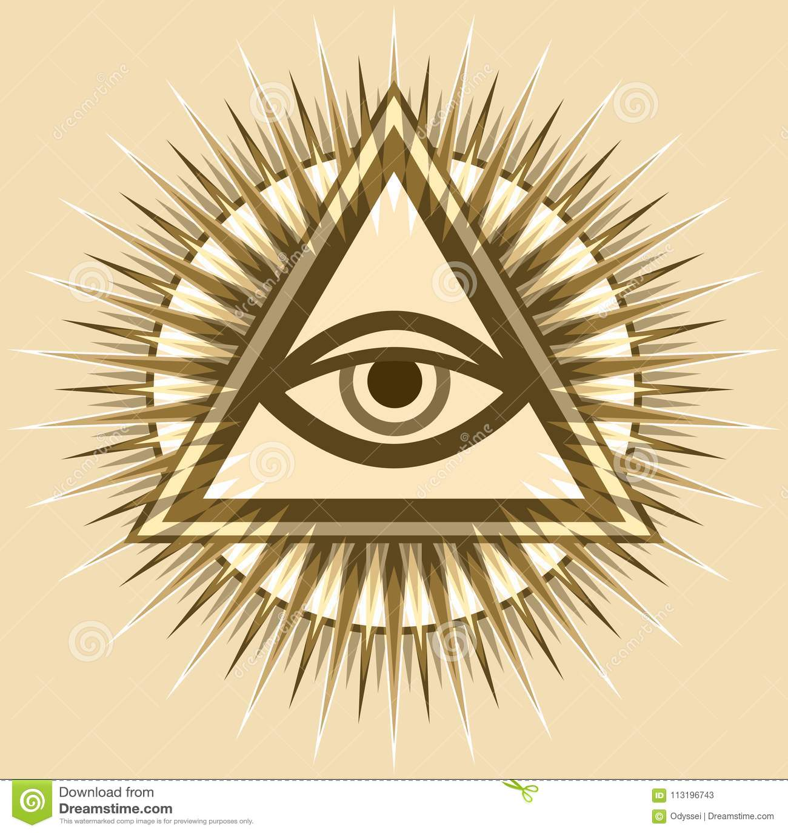 All Seeing Eye The Eye Of Providence Stock Vector Illustration