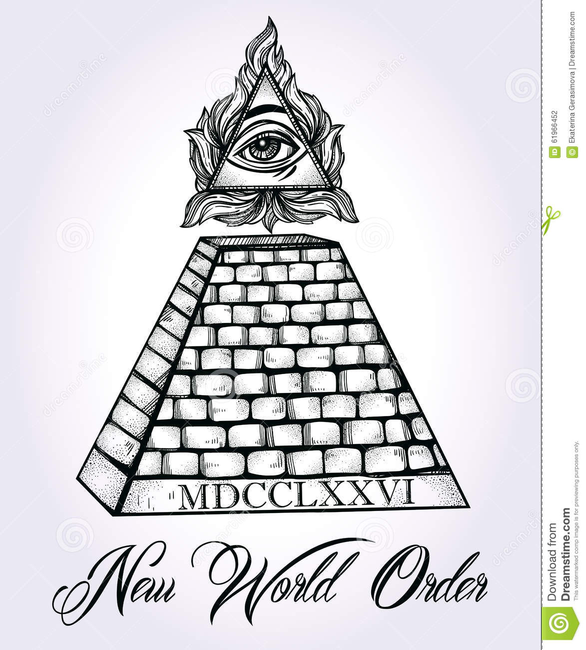 All Seeing Eye Pyramid Symbol Stock Vector Illustration Of Novus