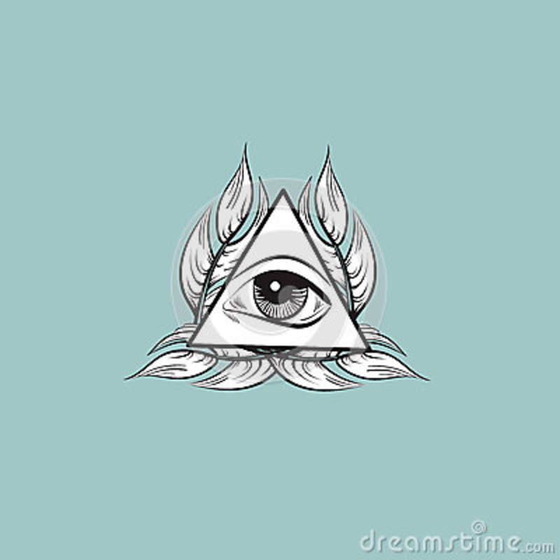 All Seeing Eye Pyramid Symbol Stock Vector Illustration Of