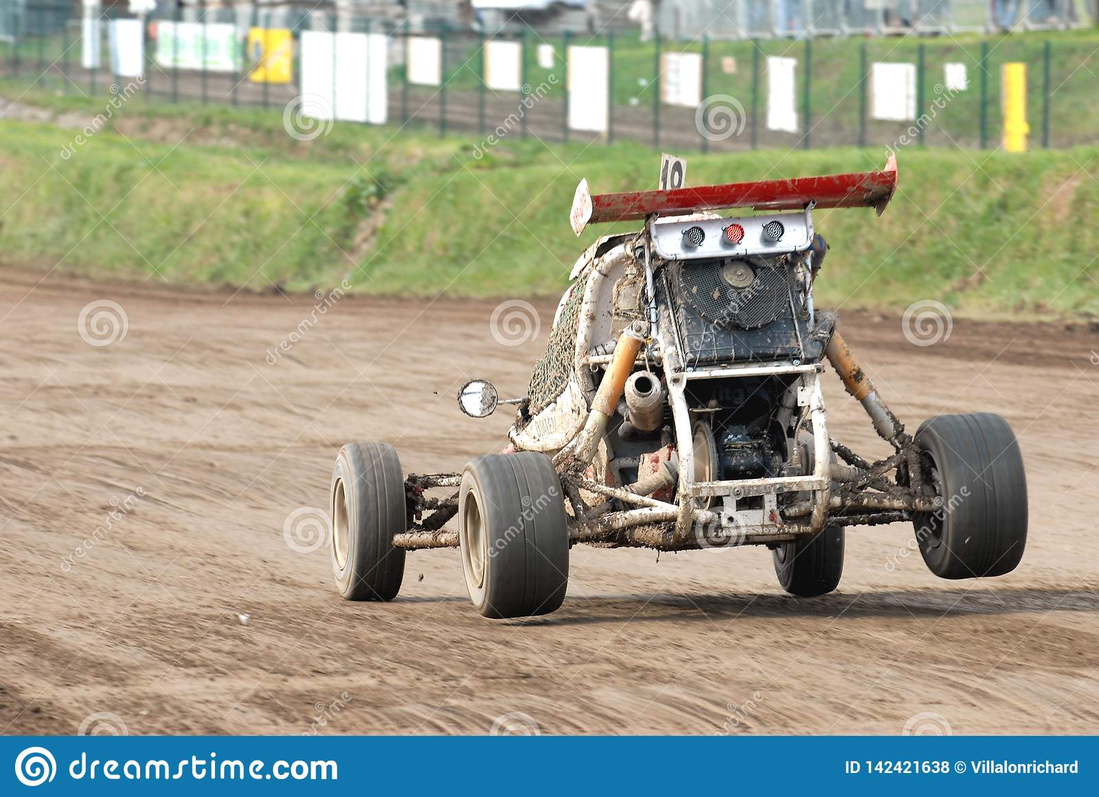Race Of Cars On A Dirt Track Stock Photo Image Of Dirt Race 142421638