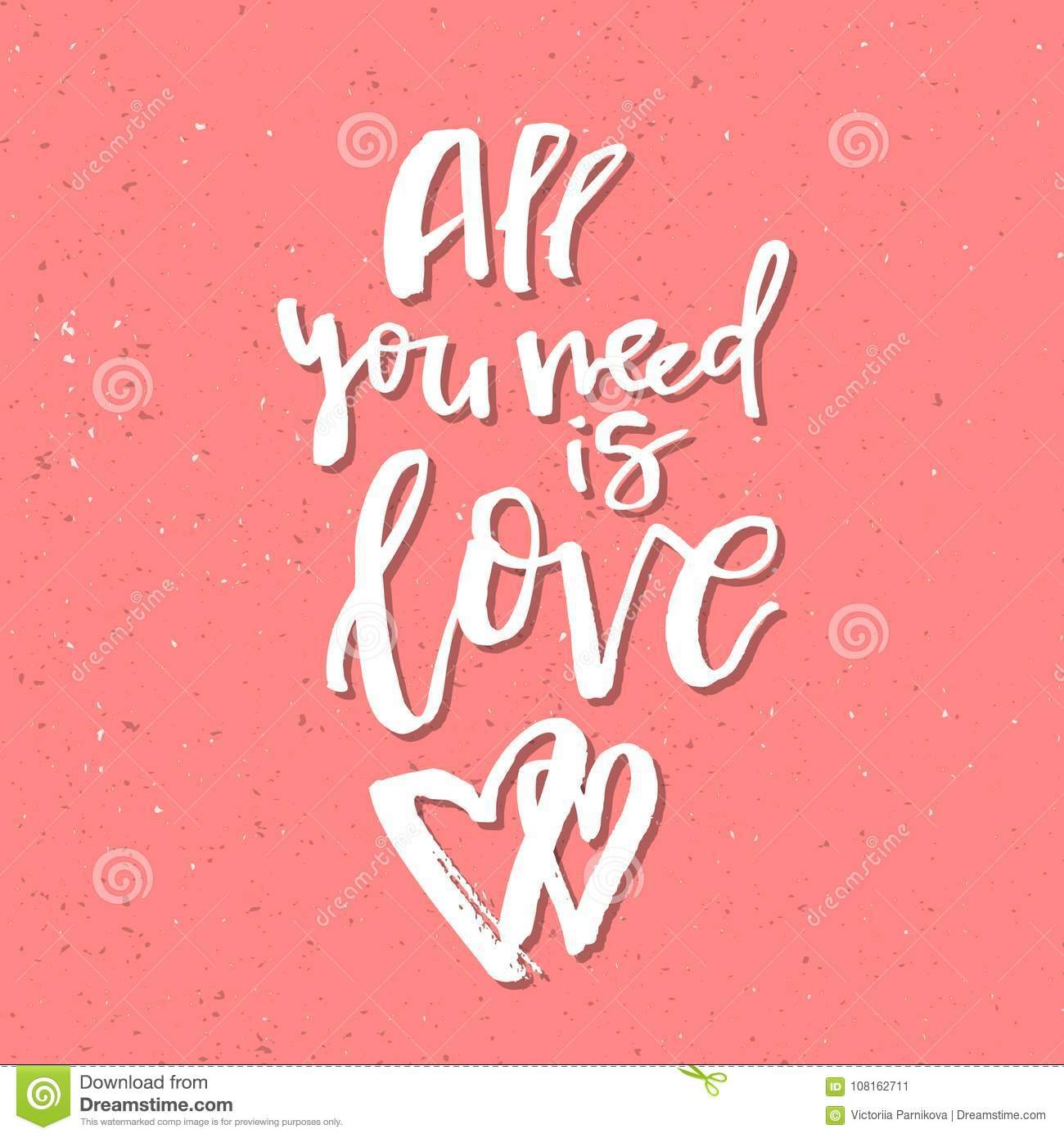 All you need is love inspirational valentines day romantic han download all you need is love inspirational valentines day romantic han stock vector illustration m4hsunfo
