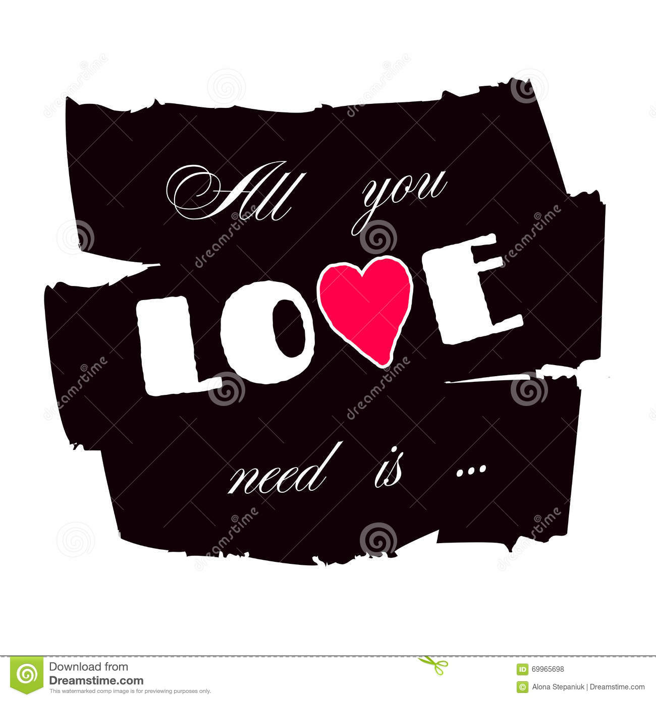 Design t shirt love - All You Need Is Love Paint Royalty Free Stock Photos