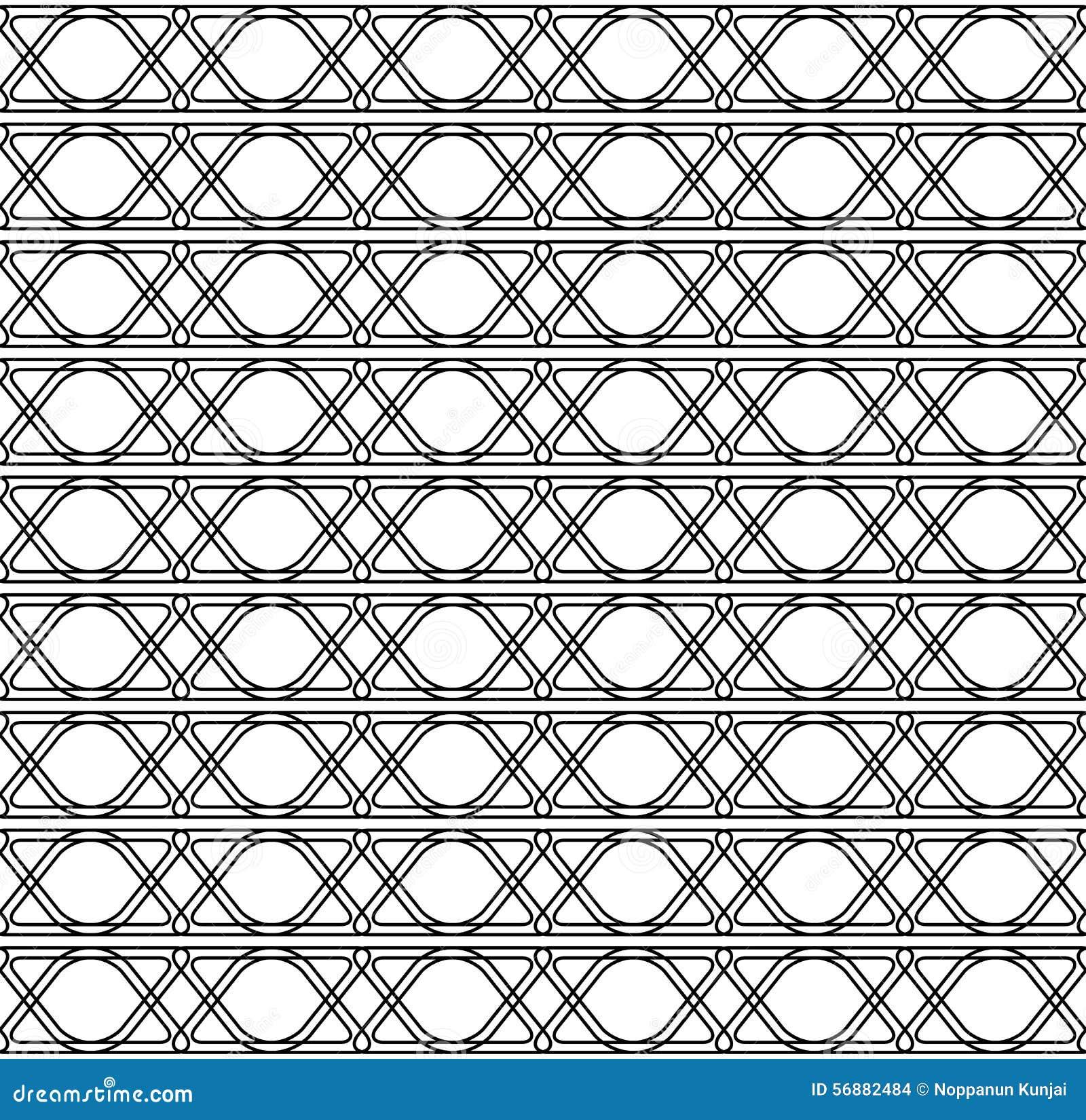 Alla moda moderno del modello senza cuciture geometrico in bianco e nero con la l