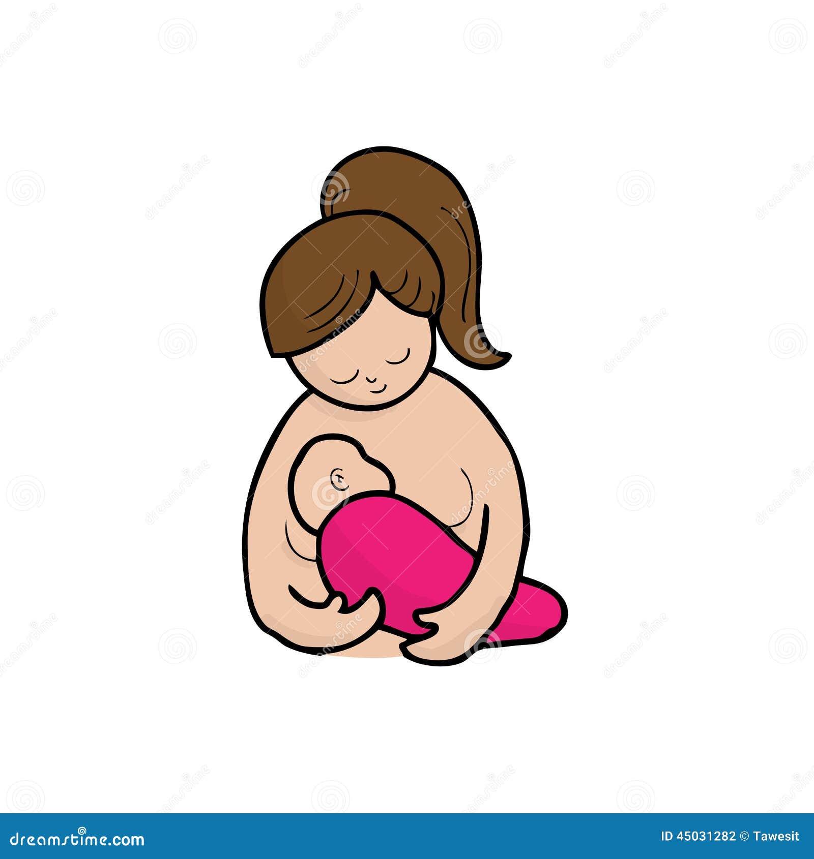 Allattamento al seno della mamma
