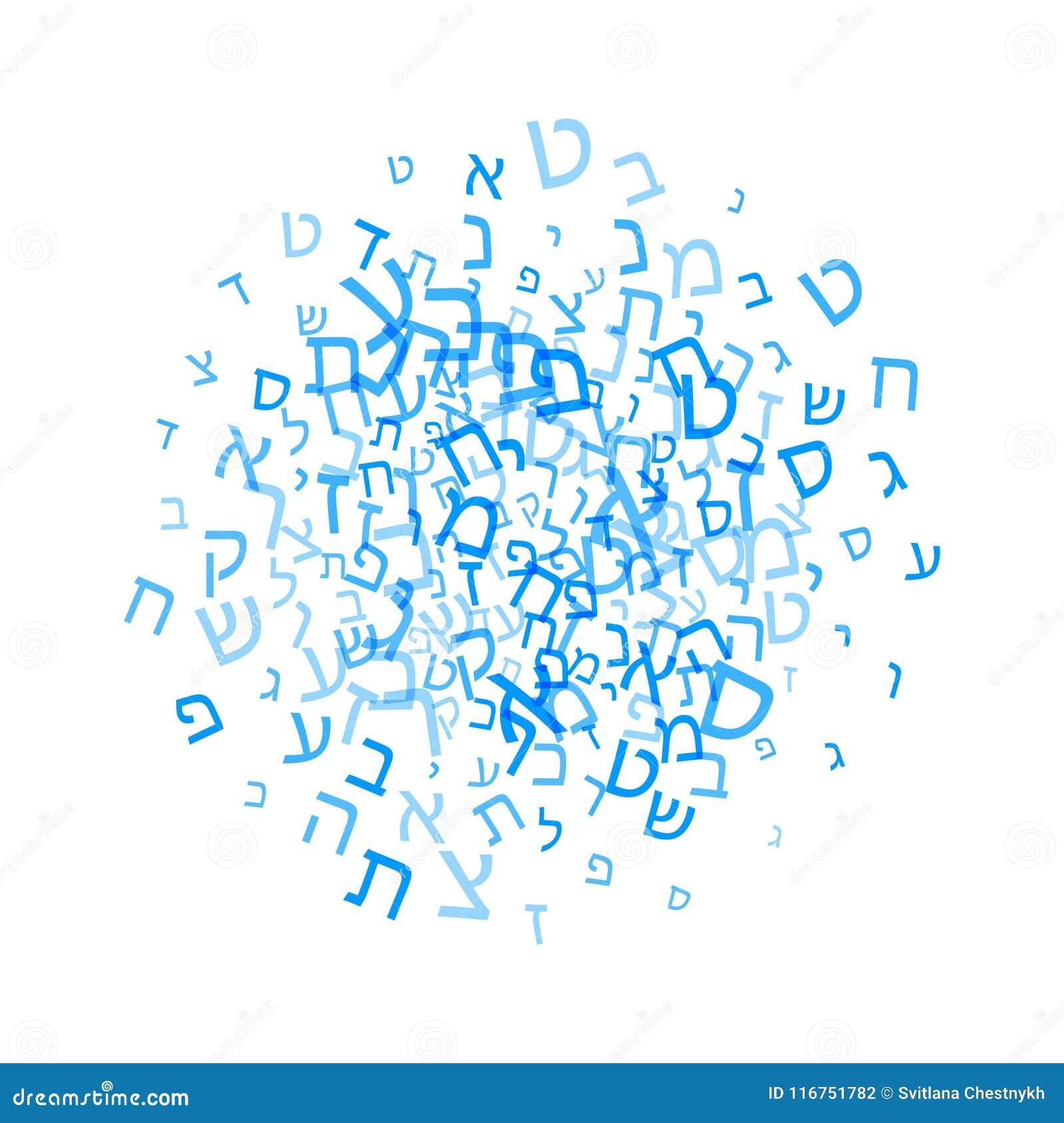 Alle brieven van Hebreeuws alfabet, Joods ABC-patroon