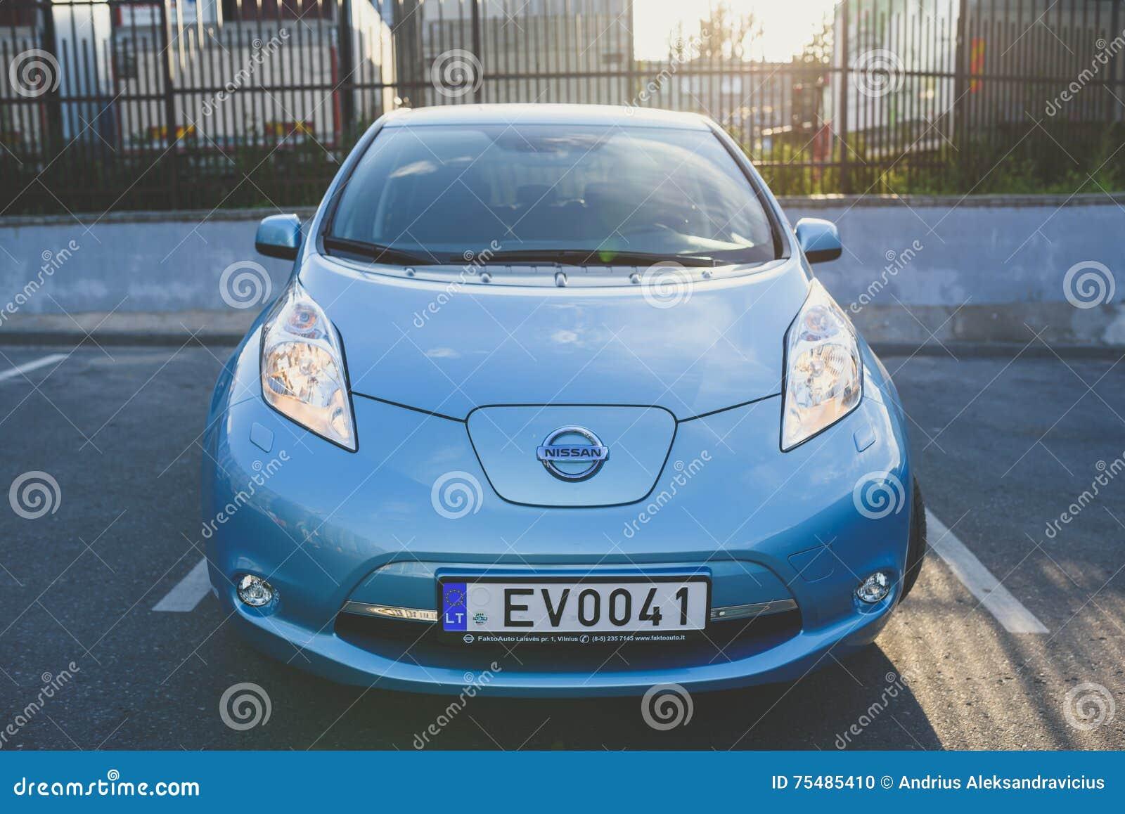 Alle Elektrische Auto Nissan Leaf Redactionele Afbeelding