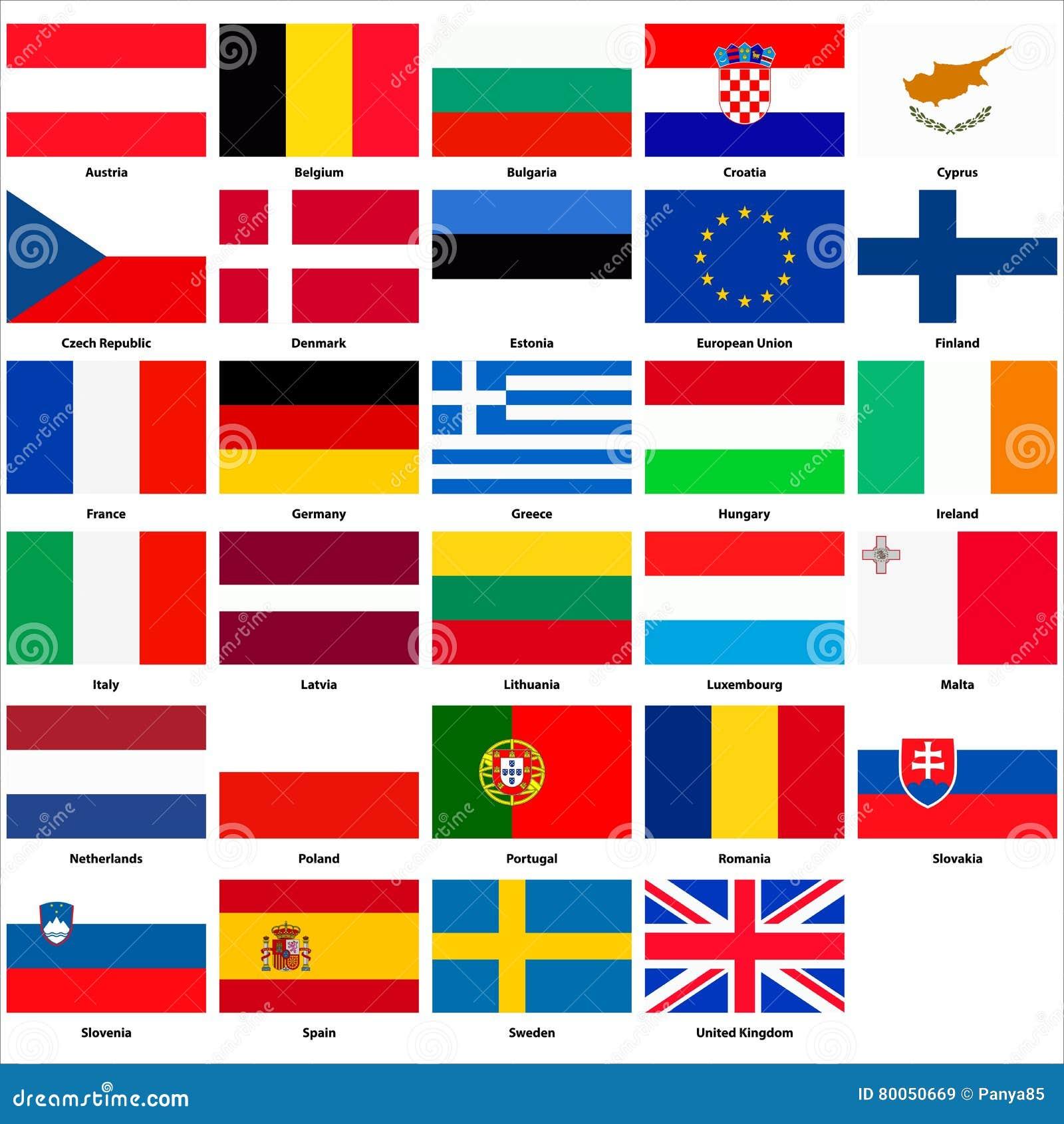 alle flaggen der l228nder der europ228ischen gemeinschaft