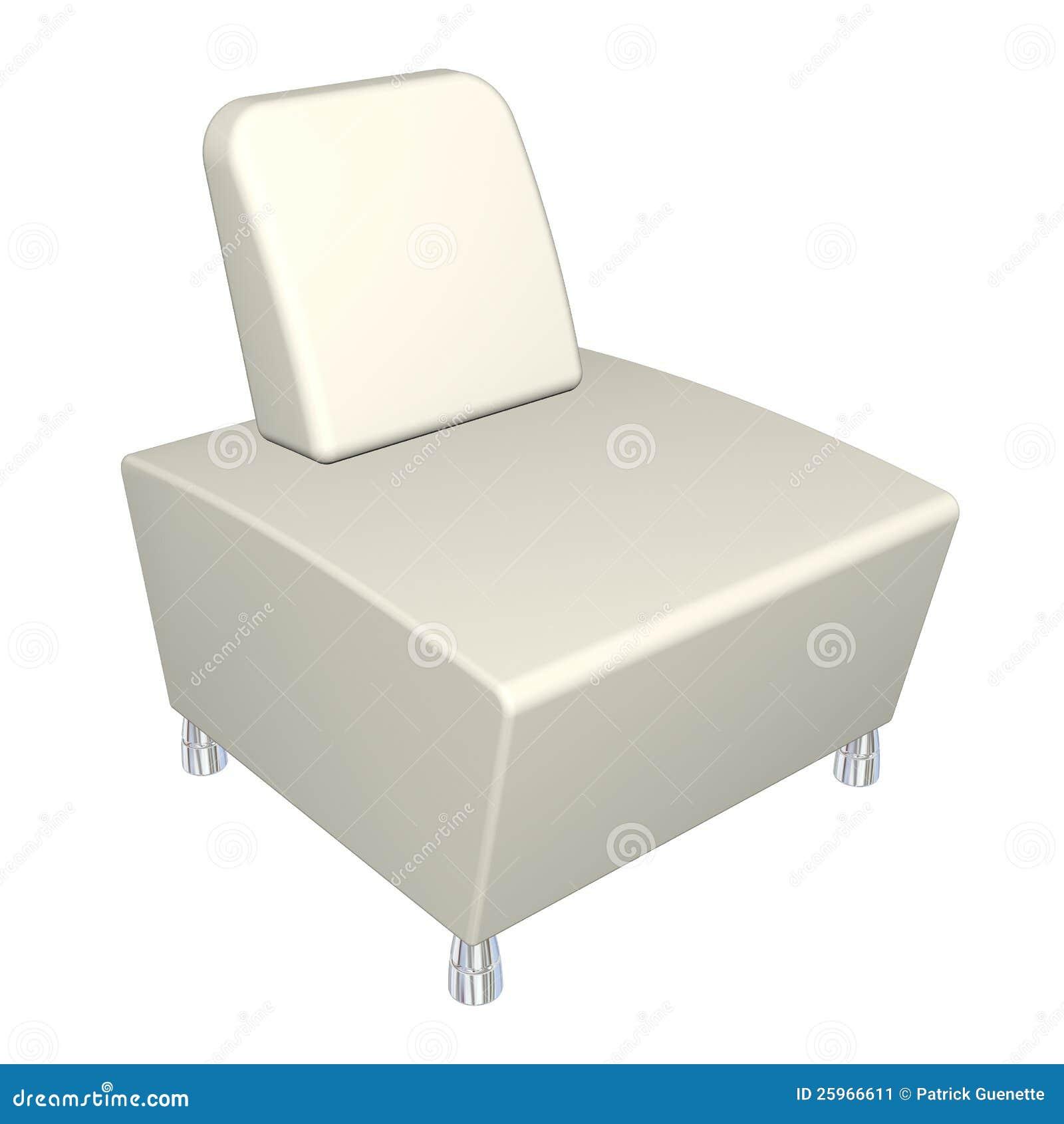 Alle leder stoel 3d illustratie stock afbeelding afbeelding 25966611 - Zetel leer metaal ...