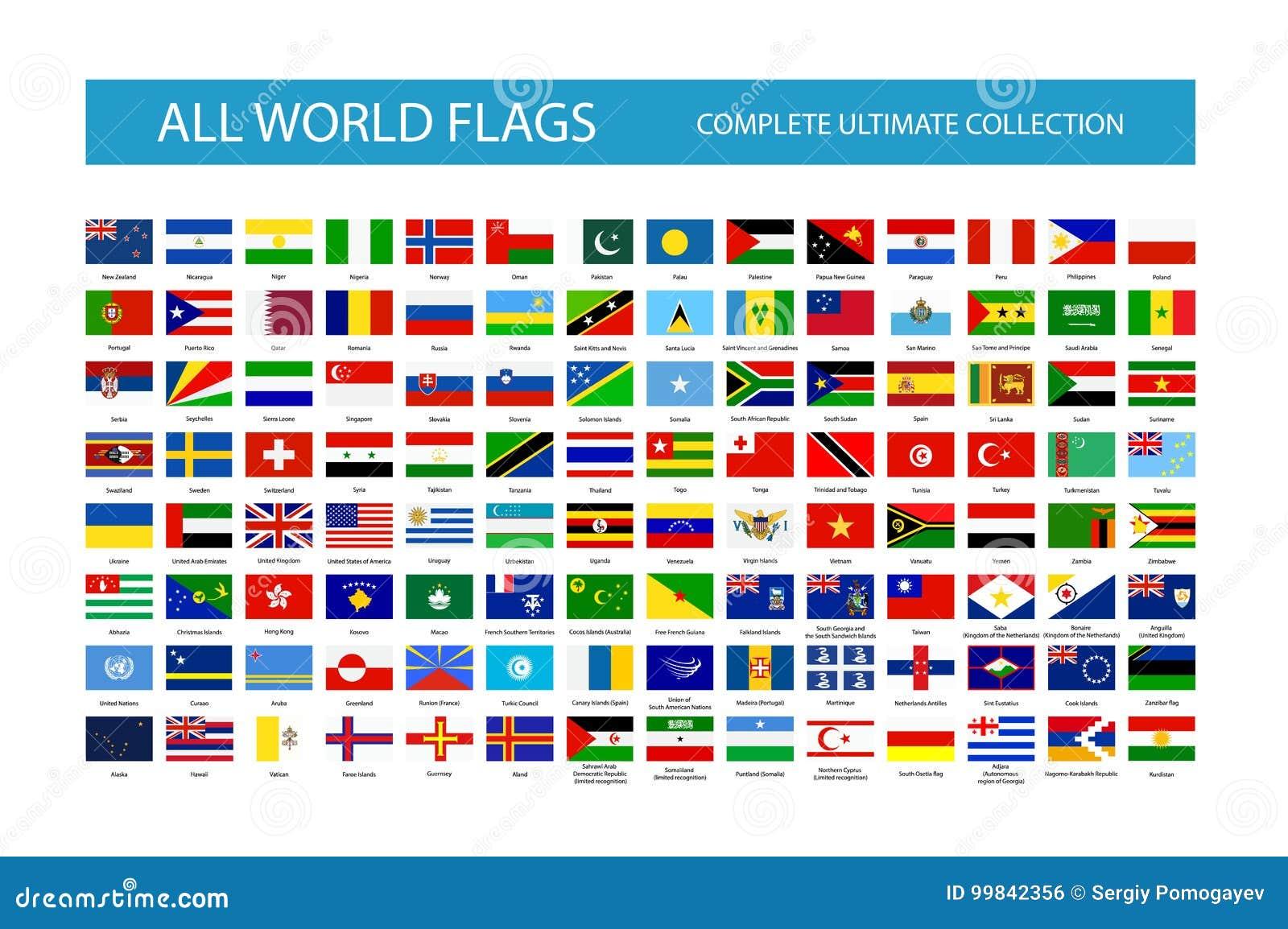 Alle Vektor-Weltlandesflaggen Teil 2