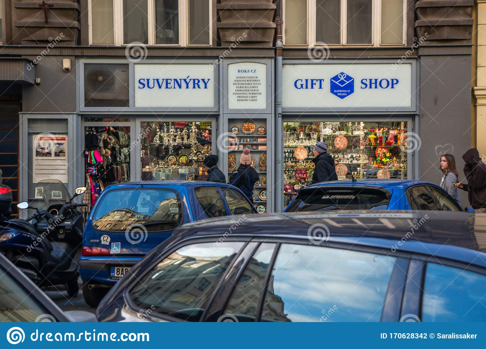 Prague Czech Republic January 22 2020 Souvenir Shop In Old Town Editorial Photography Image Of Exterior Europe 170628342