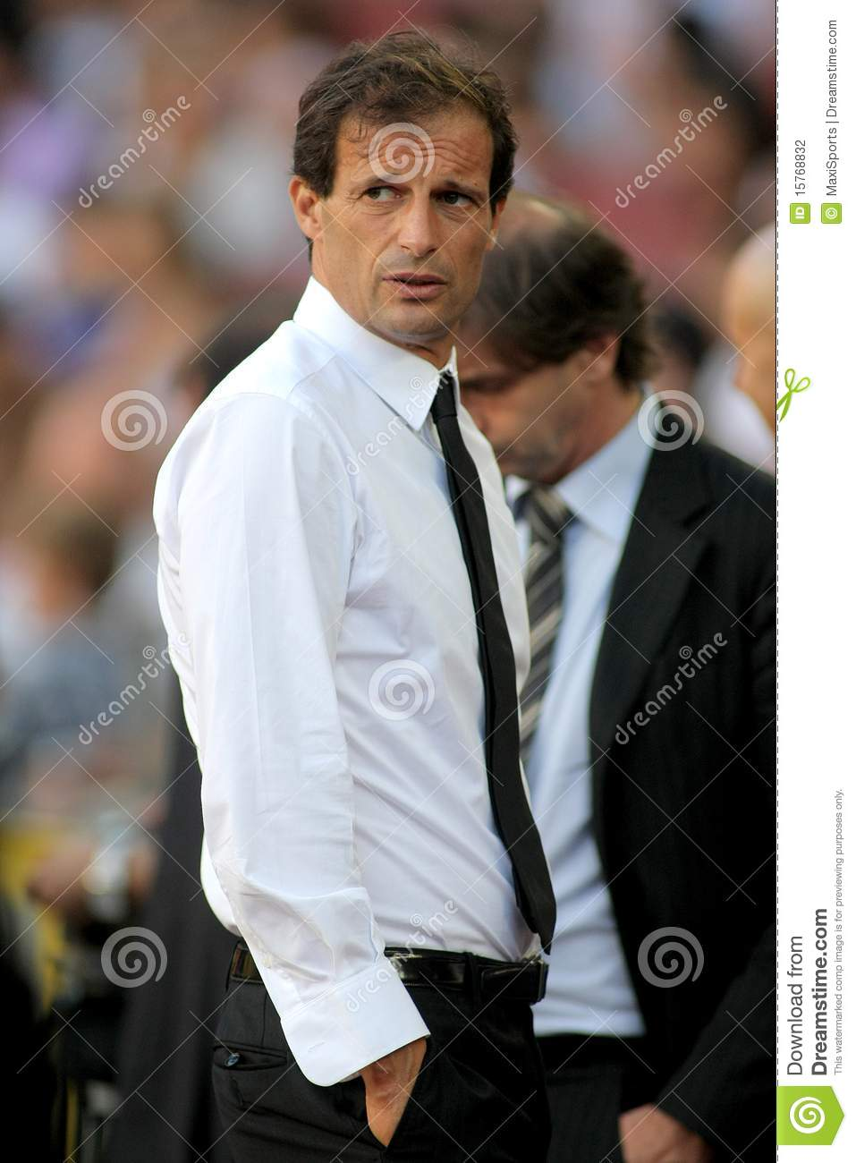 allegri manager of ac milan editorial photography