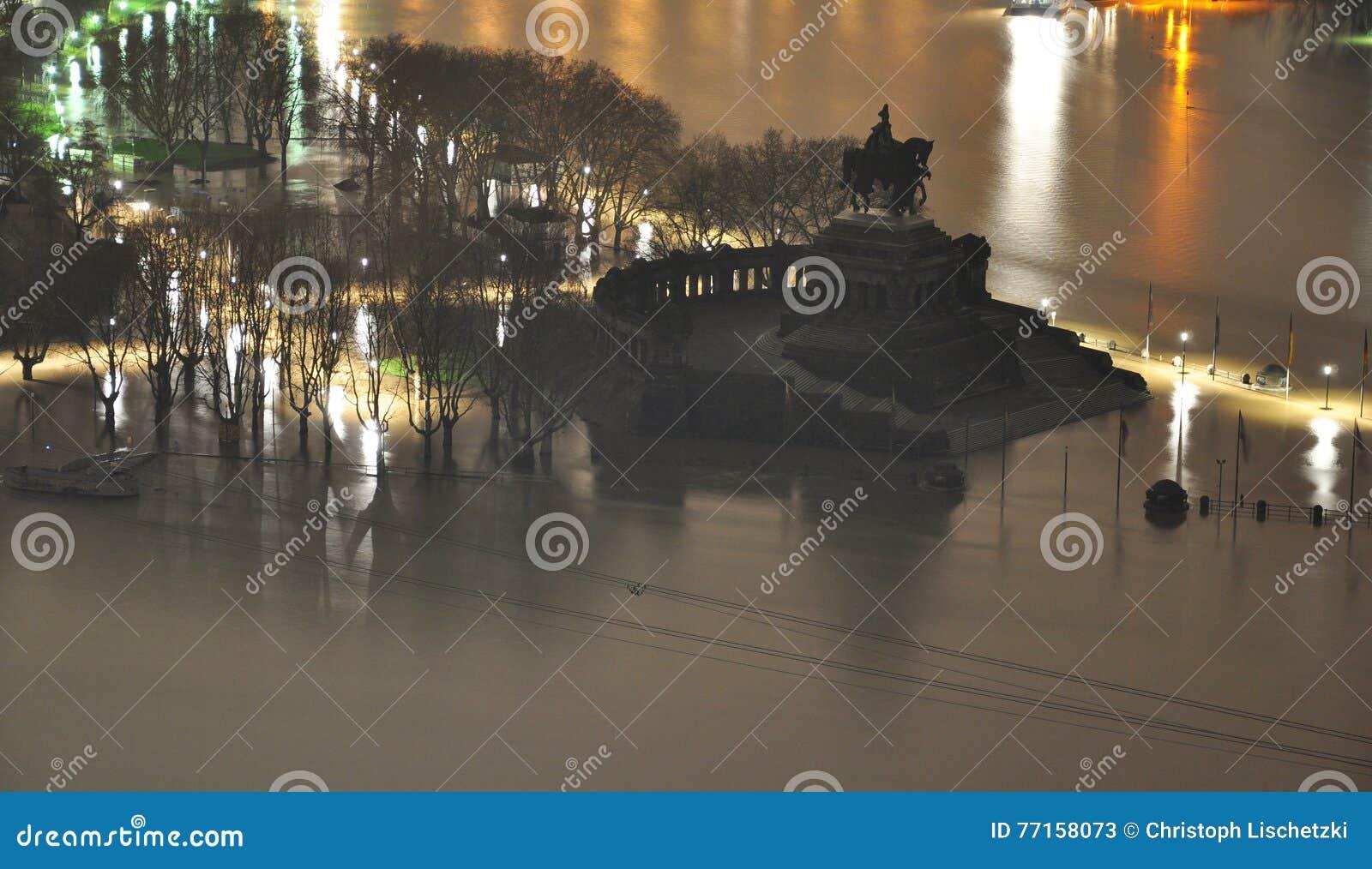 Allemand historique Corner3 d inondation de l Allemagne de ville de Coblence