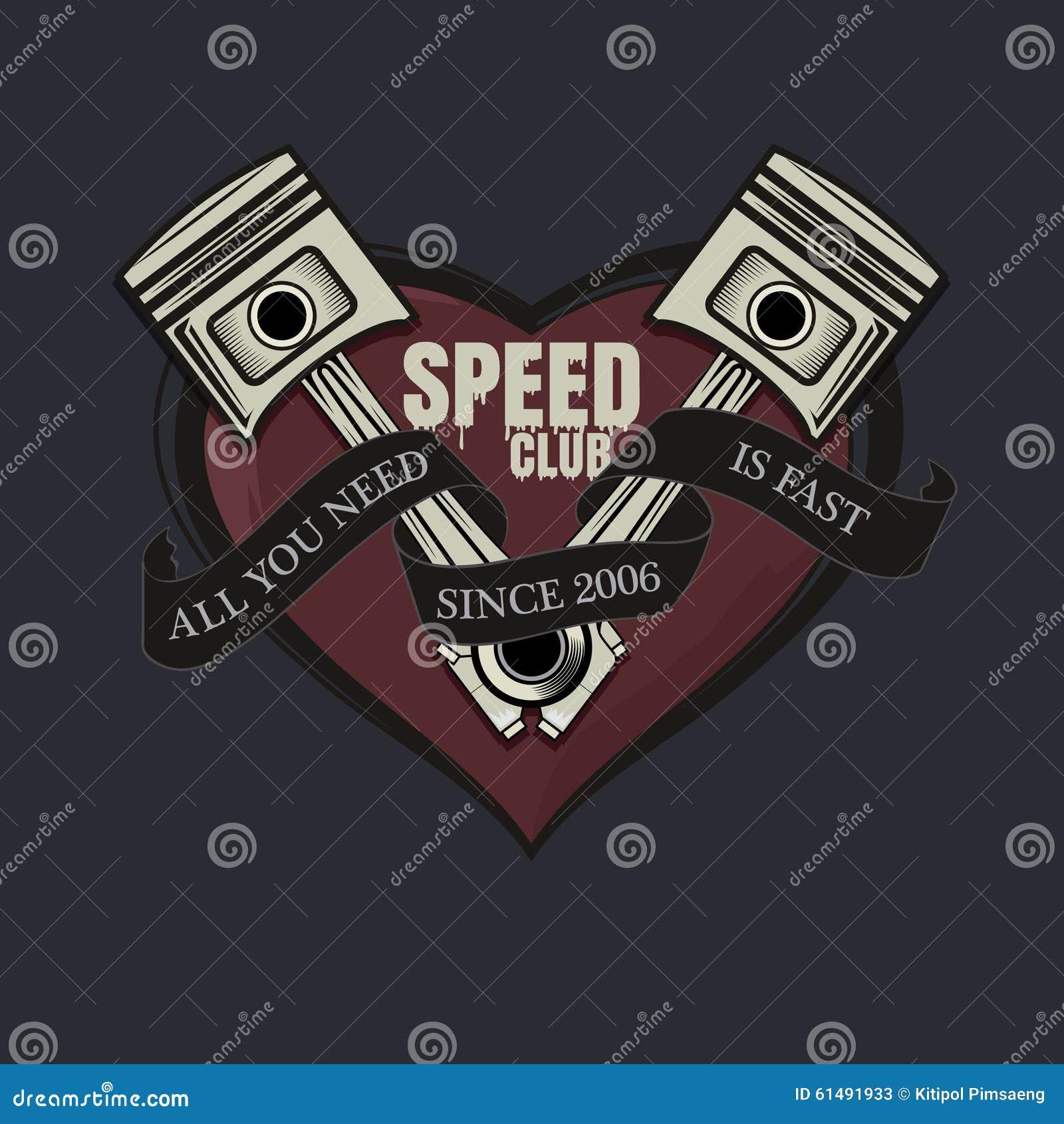 Allen u wenst is snel grafisch T-stuk, snelheidsclub grafisch voor t-shirt, affiche