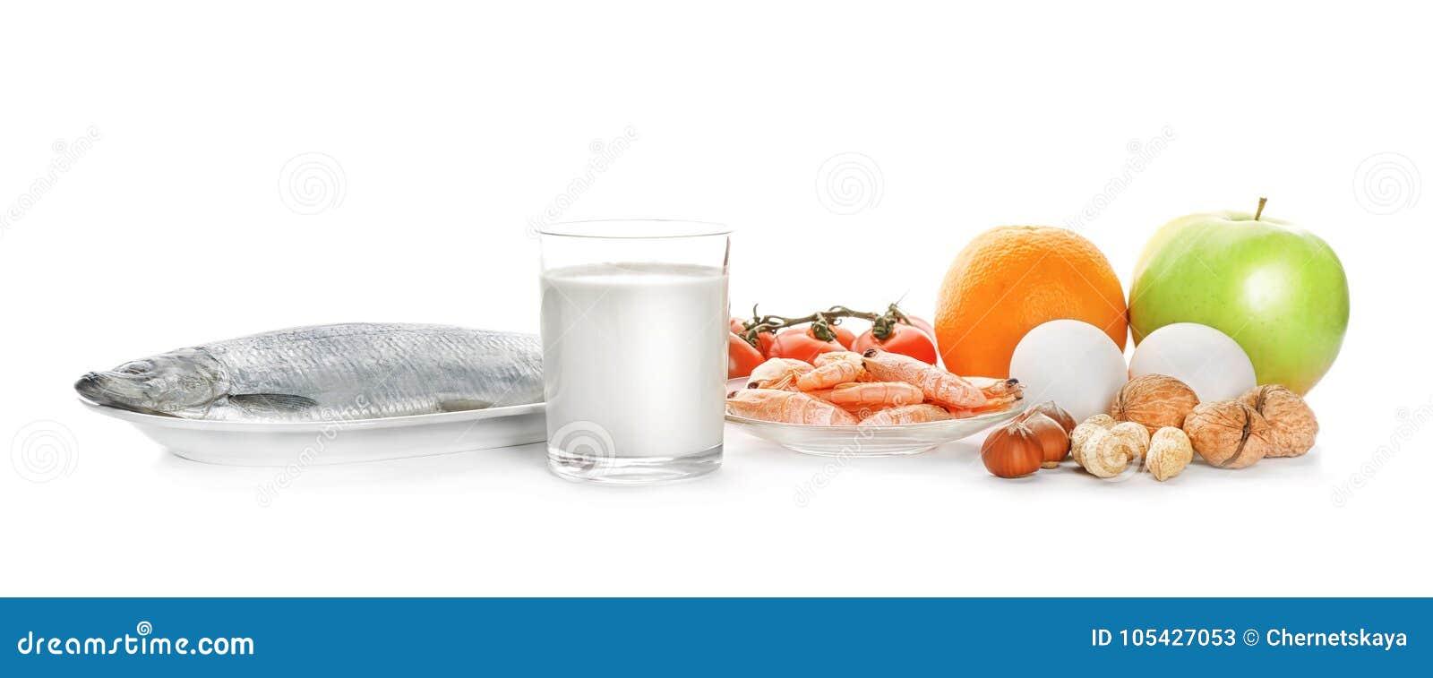 Allergy food concept. Allergic fooв