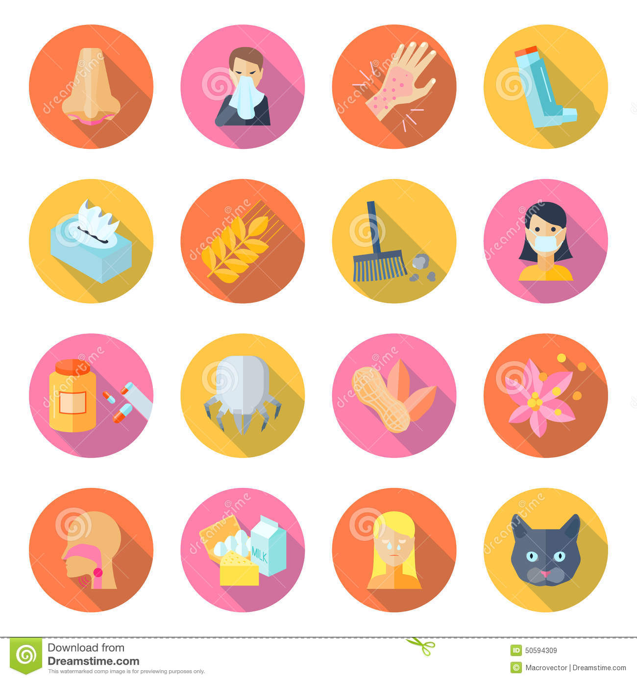 Allergy Icon Flat Stock Vector - Image: 50594309 Vacuum Clipart