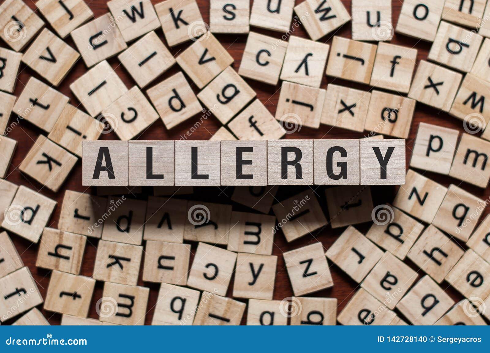Allergy word concept