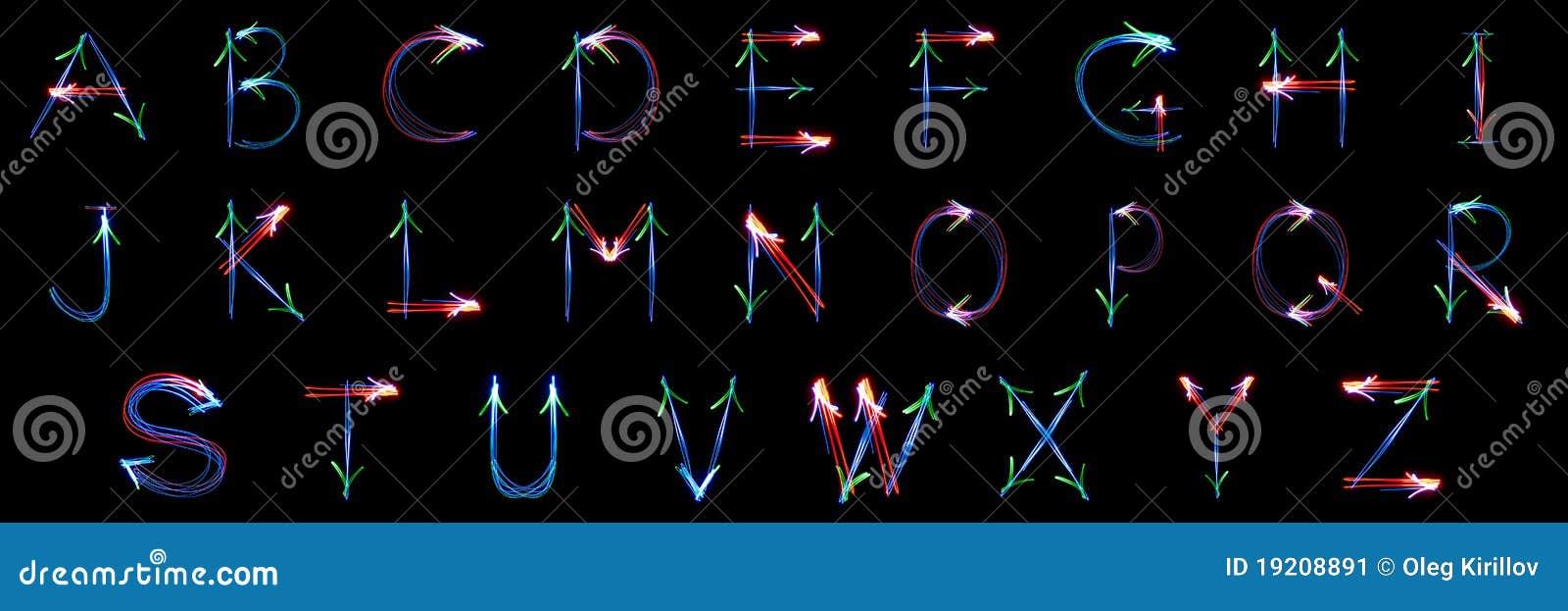 Alles freezelight Alphabet