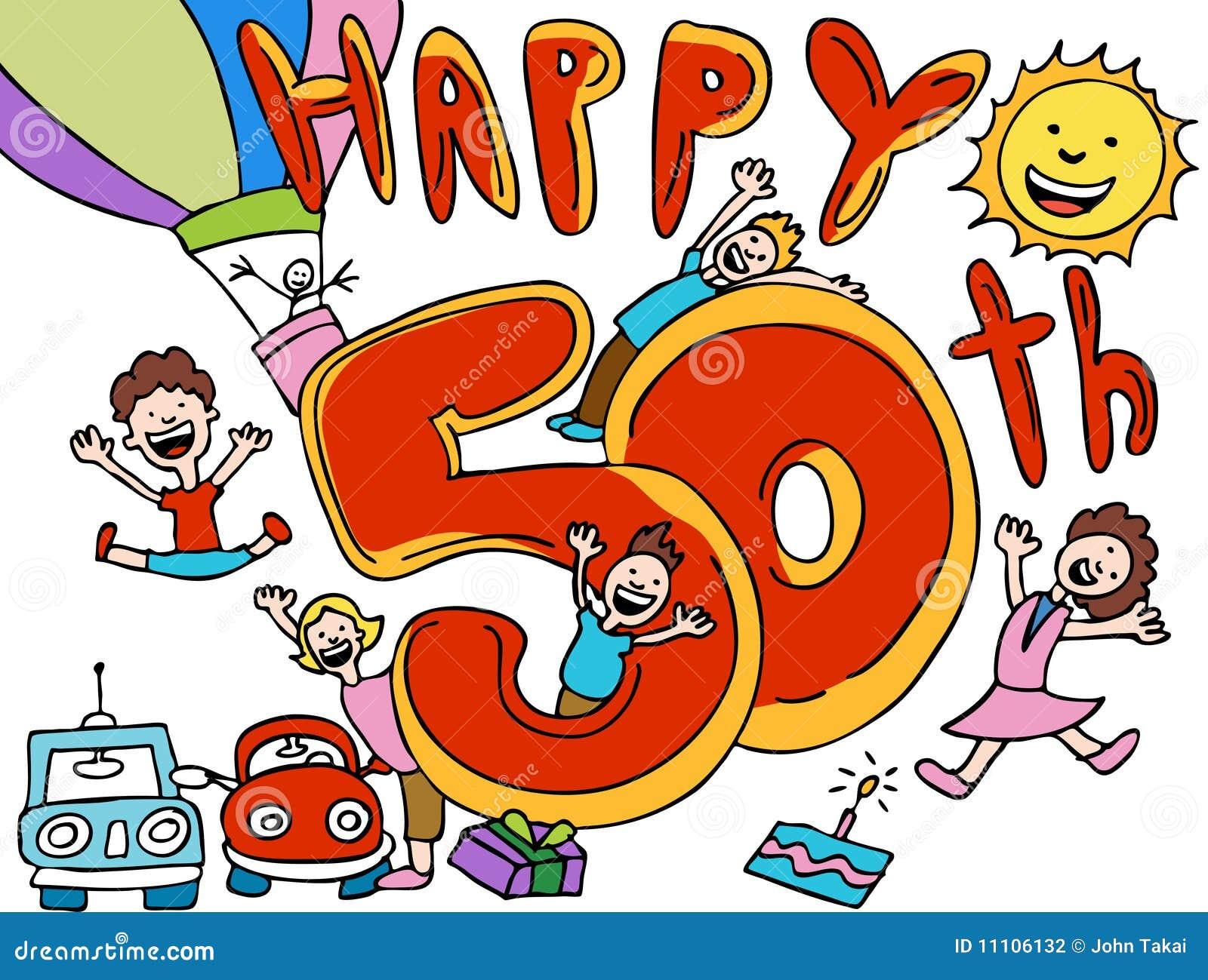 Alles Gute Zum Geburtstag 50 Vektor Abbildung Illustration Von
