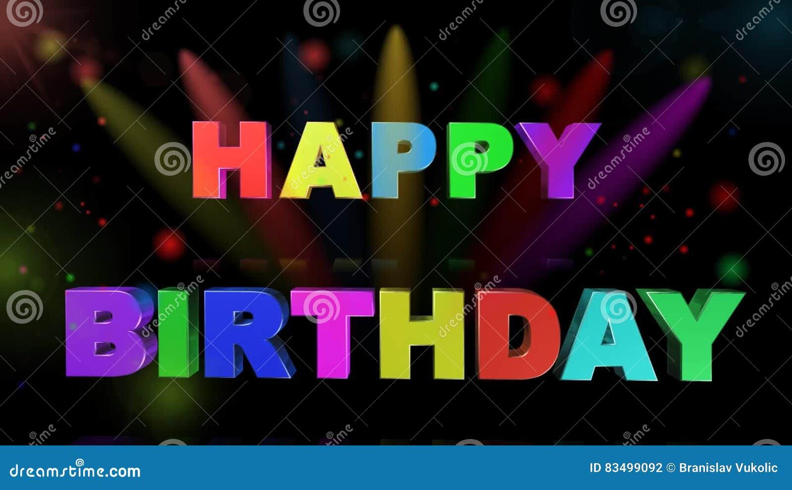 Alles Gute Zum Geburtstag Animation Stock Footage Video Von Farbe