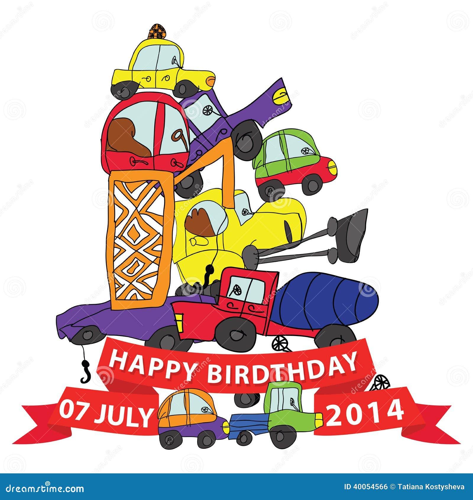 Geburtstag lustig auto
