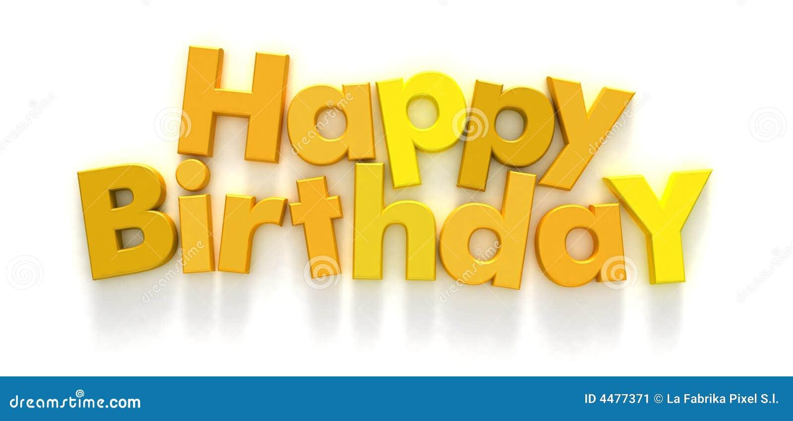 Alles Gute Zum Geburtstag In Den Gelben Zeichen Stock Abbildung