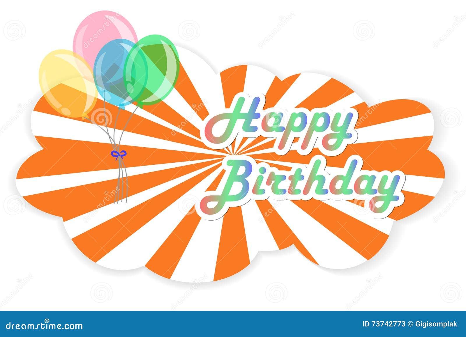 Alles Gute zum Geburtstag der Grußkarte