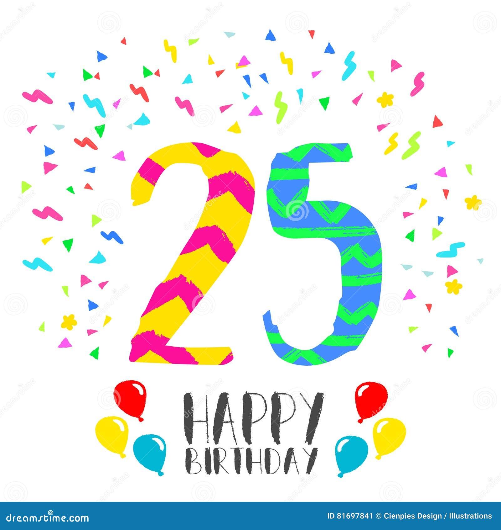 Alles Gute Zum Geburtstag Für 25 Jährige