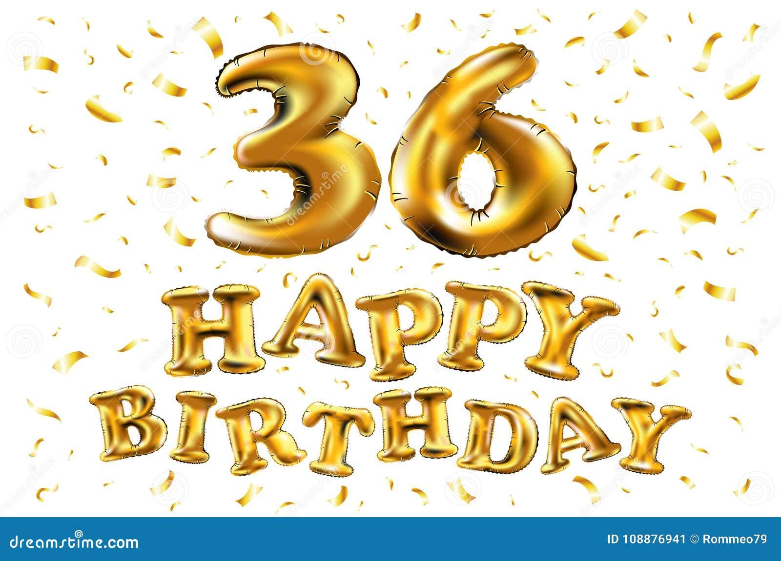 Alles Gute Zum Geburtstag 36 Jahre Jahrestagsfreuden Feier