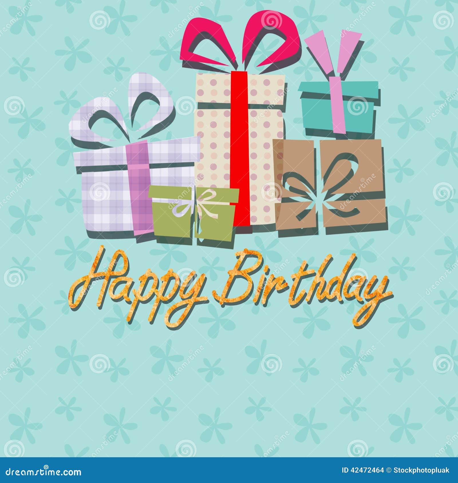 Alles Gute zum Geburtstag, kopierter Hintergrund der Handschrift Beschriftung