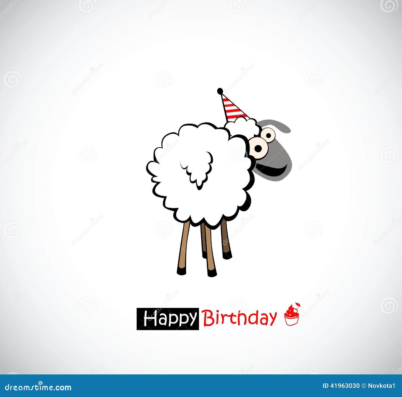 Alles Gute Zum Geburtstag Lustig Stock Abbildung Illustration Von