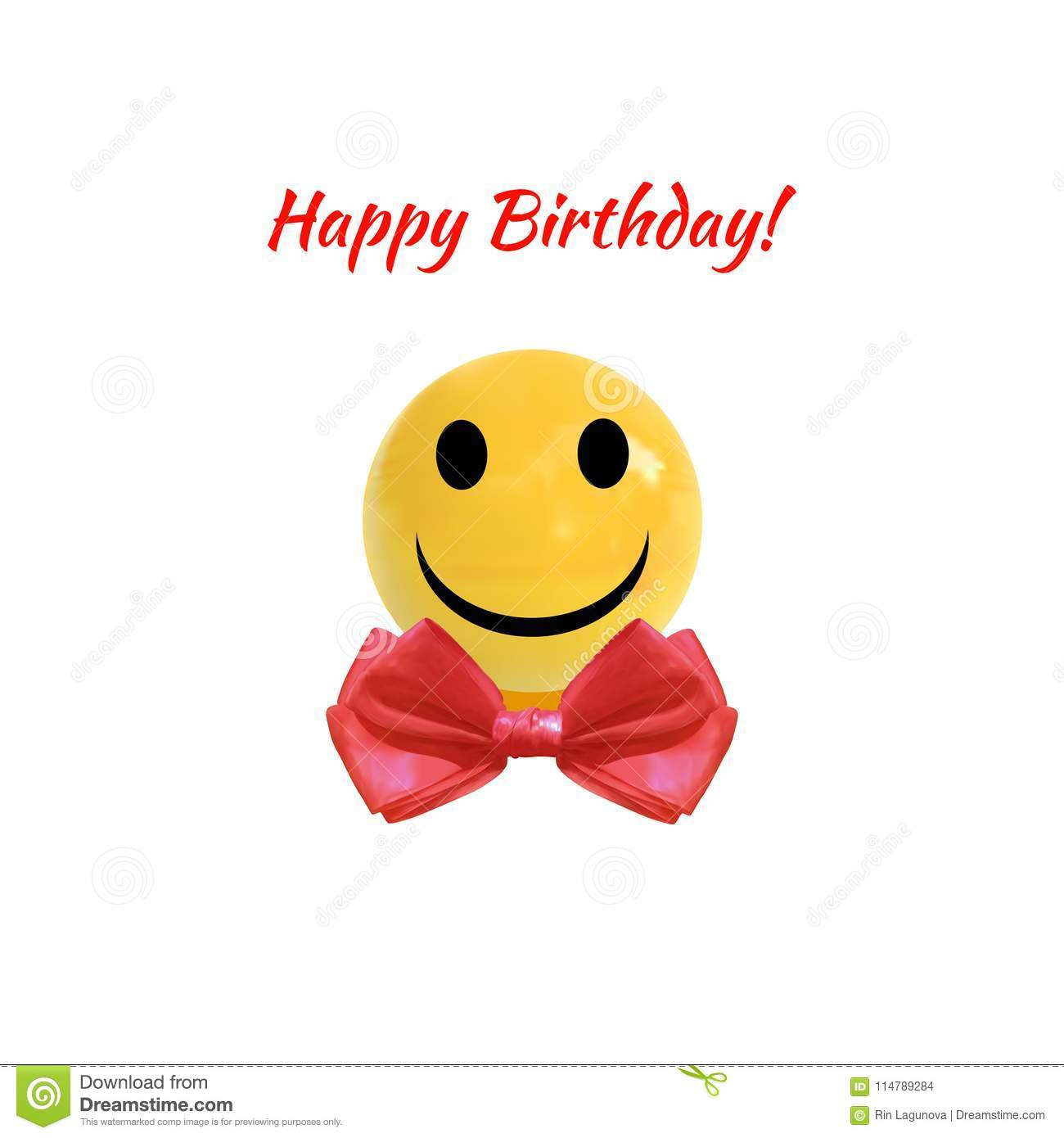 Alles Gute Zum Geburtstag Vektor Illustration Smiley Face On