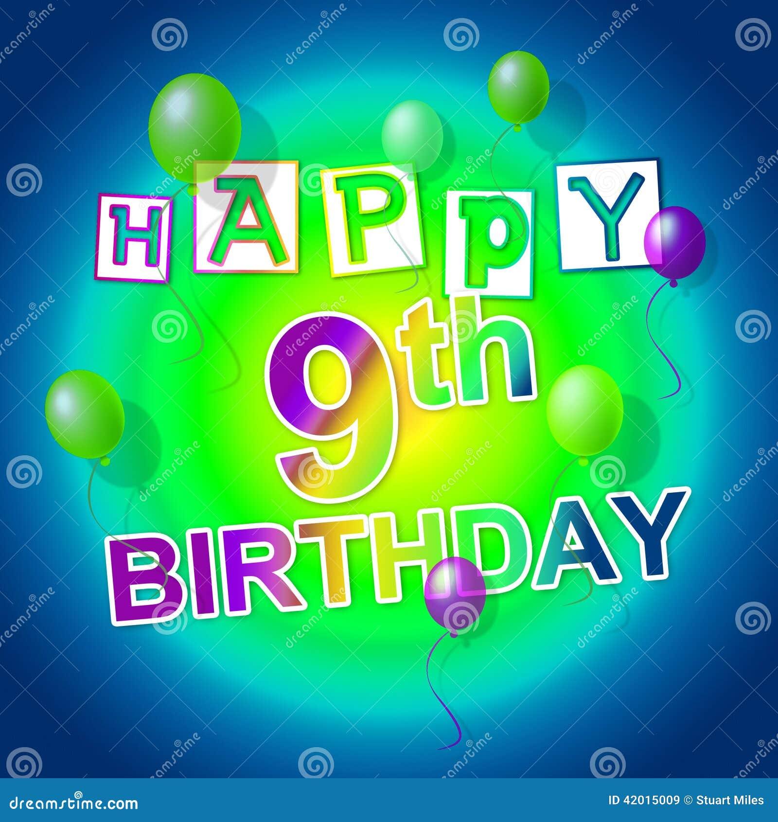 Alles Gute Zum Geburtstag Zeigt Spass Parteien Und Gruss Stock
