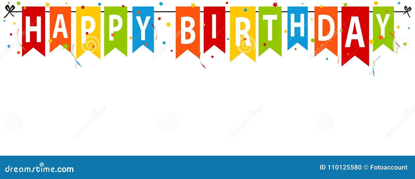 Alles- Gute zum Geburtstagfahne, Hintergrund - Editable Vektor-Illustration