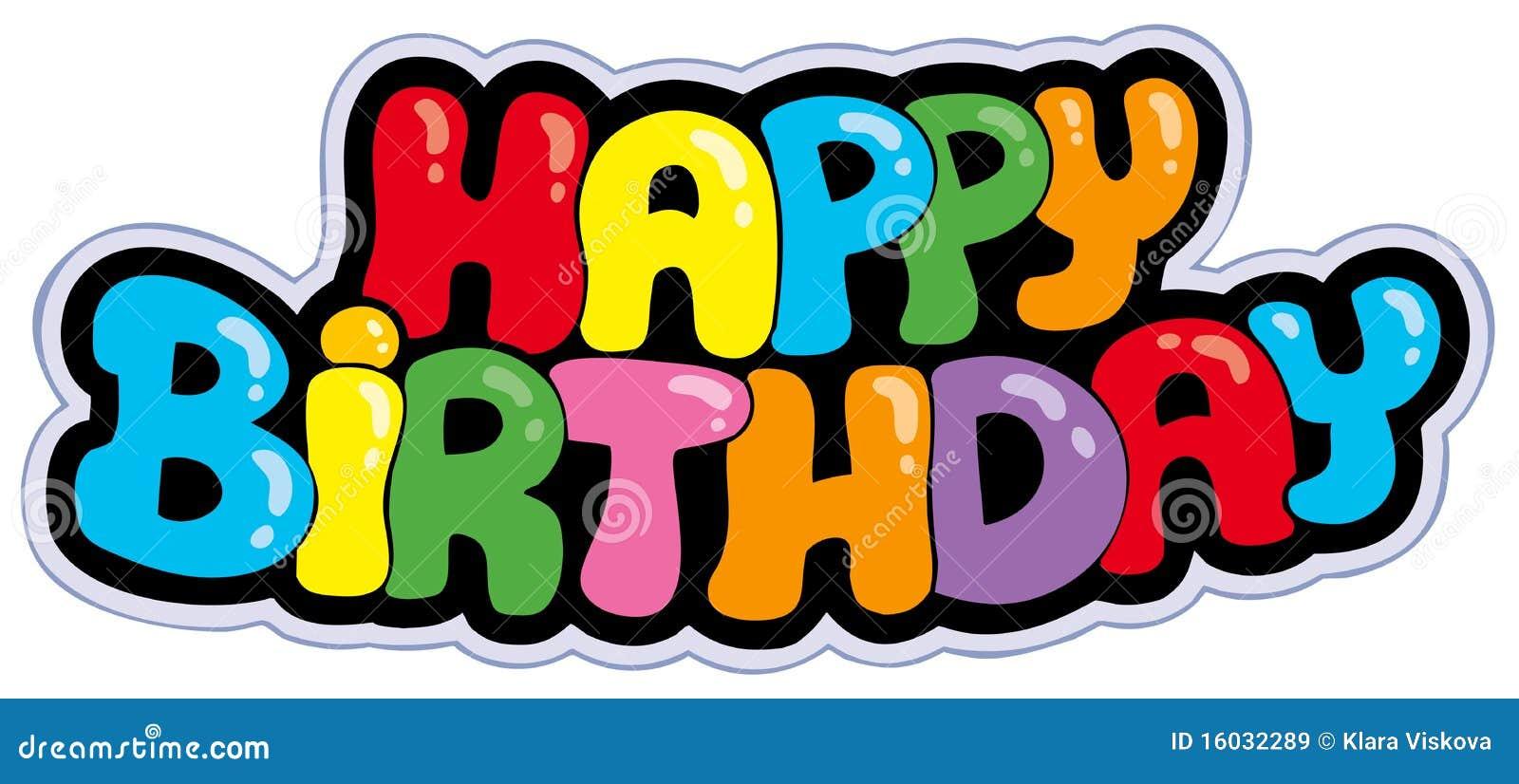 Alles Gute zum Geburtstagkarikaturzeichen